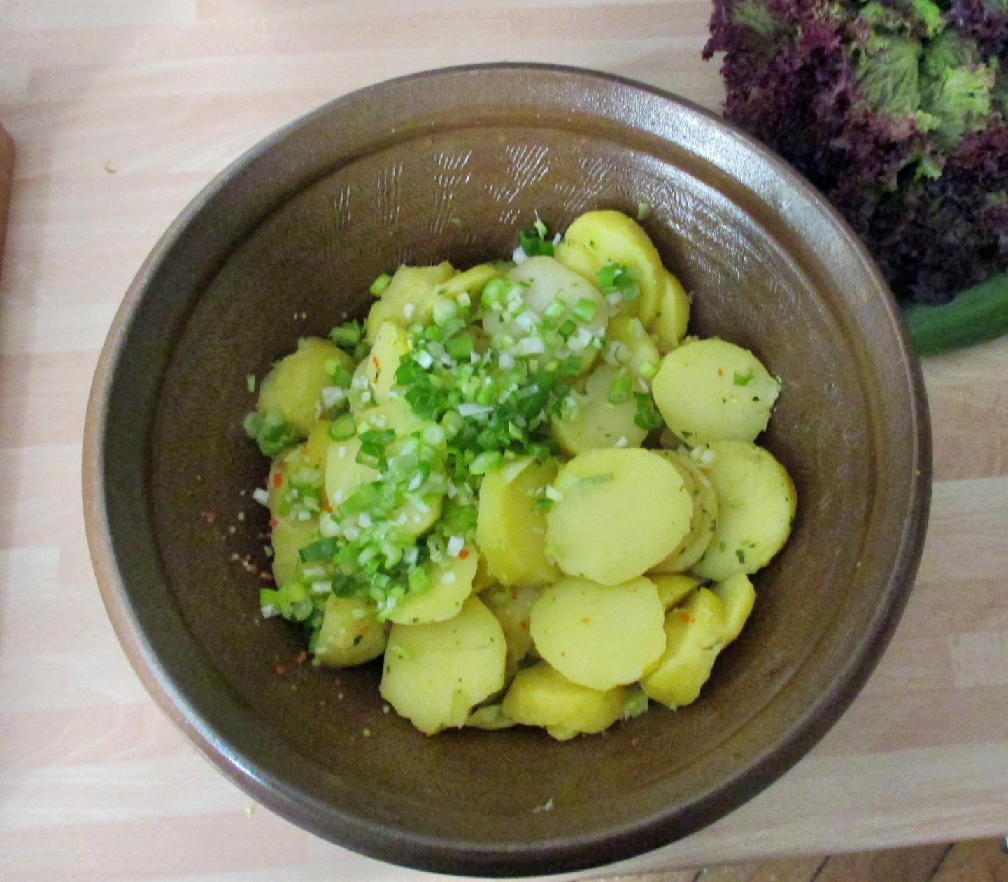 Kartoffelsalat,pochiertes Ei,Salate - 12.7.15   (3)