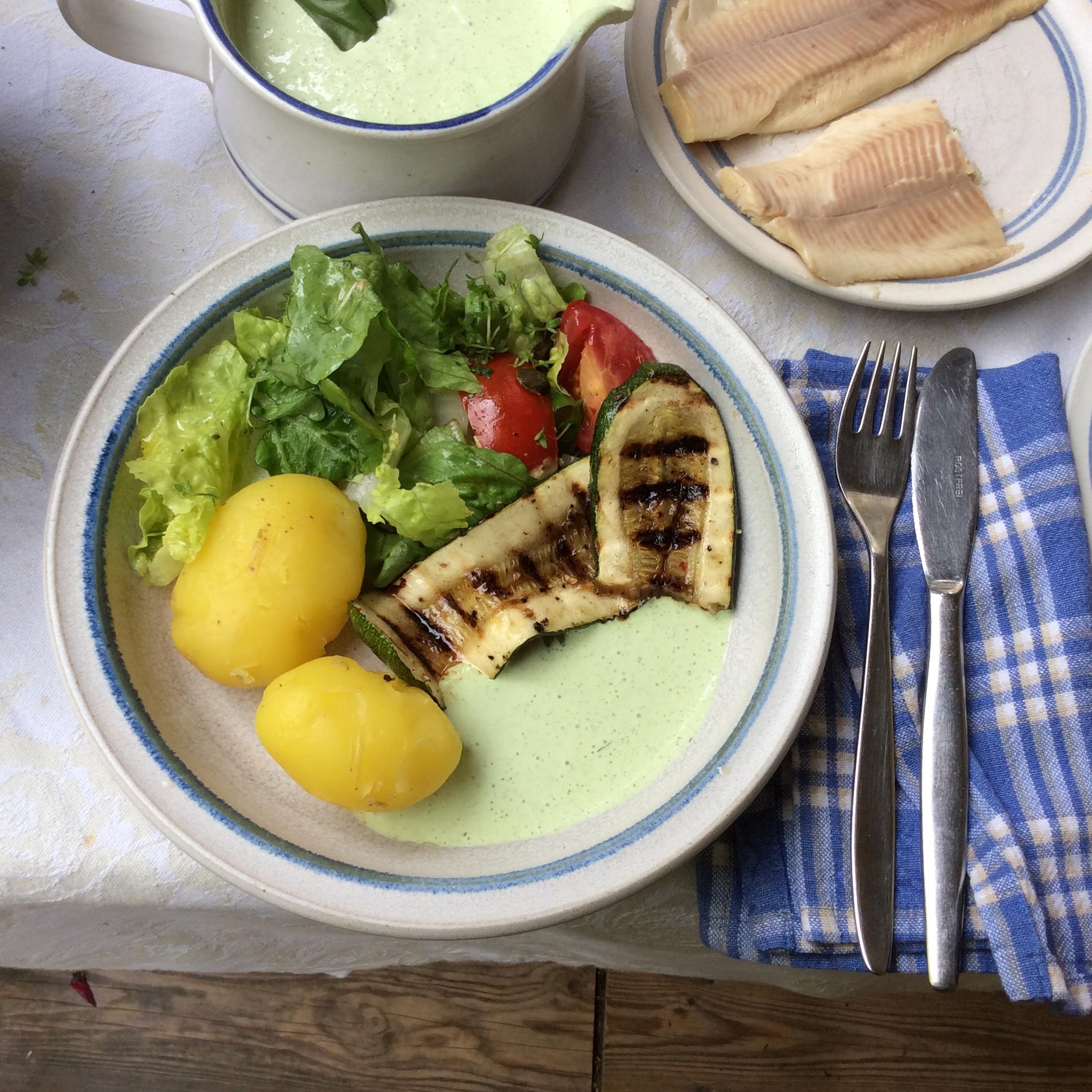 Forelle,Salat,Zucchini -25.8.15   (8)
