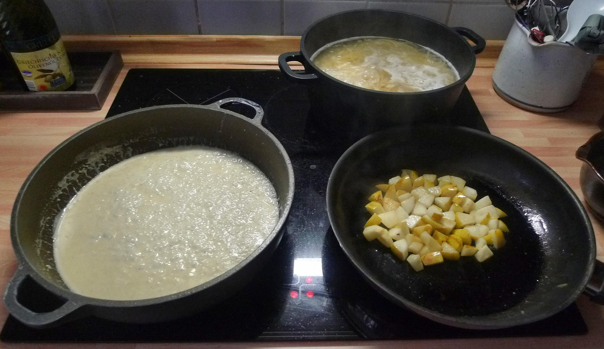 Nudeln mit Gorgonzola - (6) -1.9.15