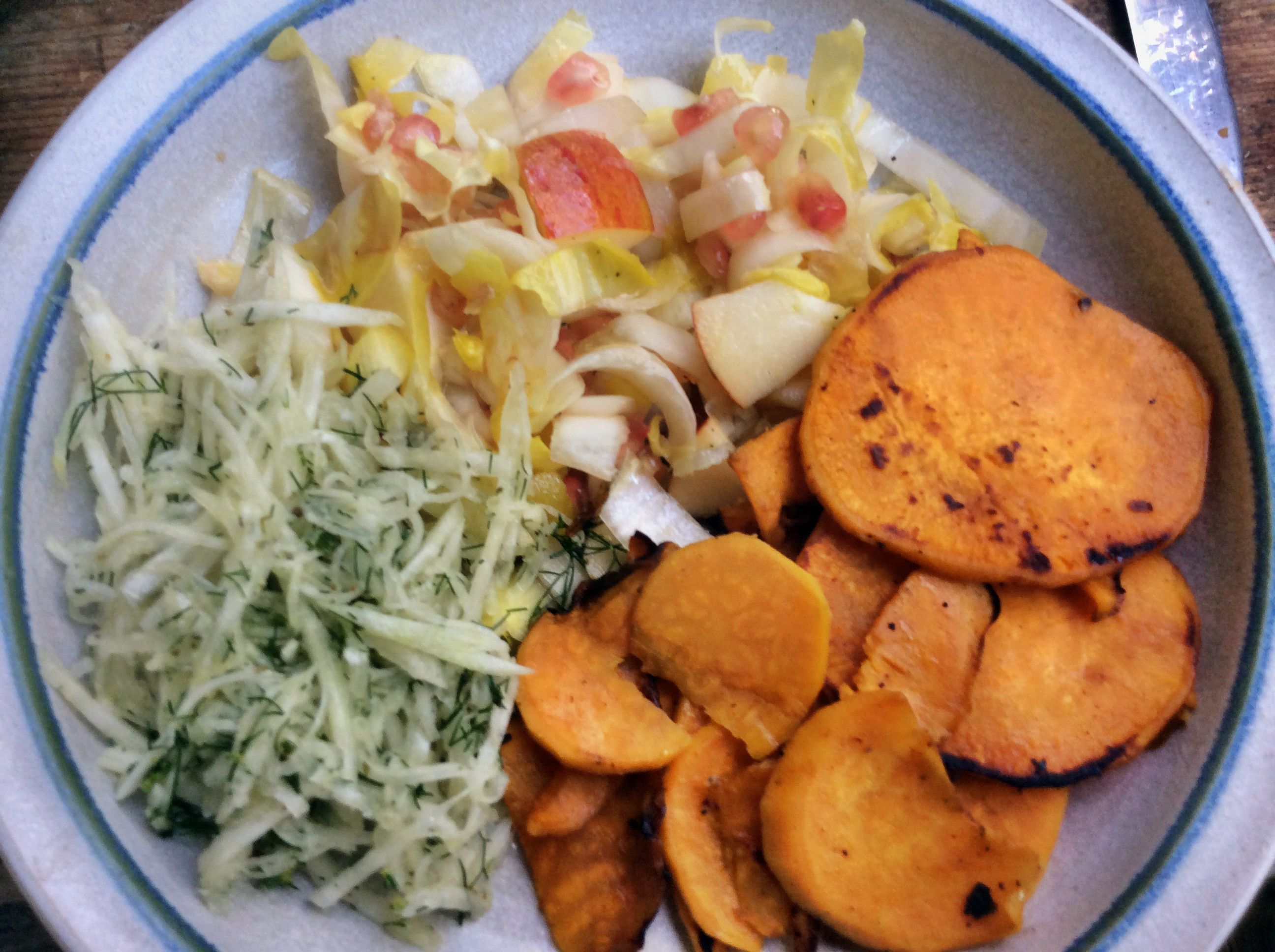 Süßkartoffeln,Lachsforelle,Salatr,- 21.915 (5b)