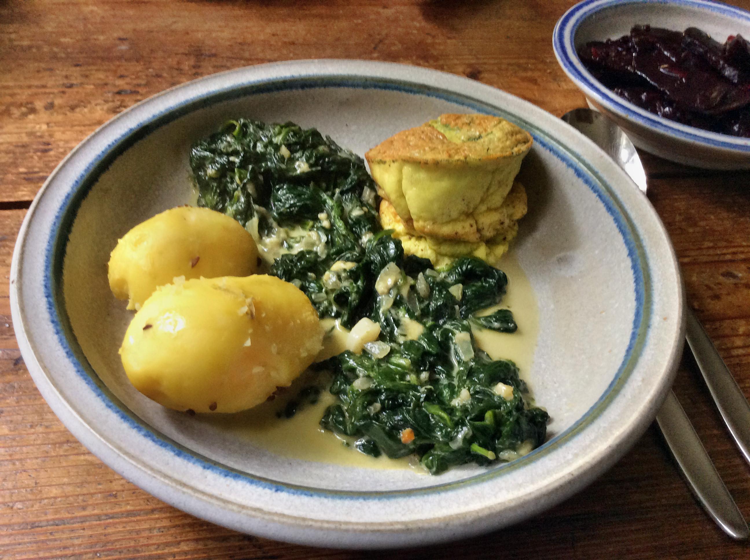 Spinat,Ei,Kartoffeln  - 22-9-15   (1)
