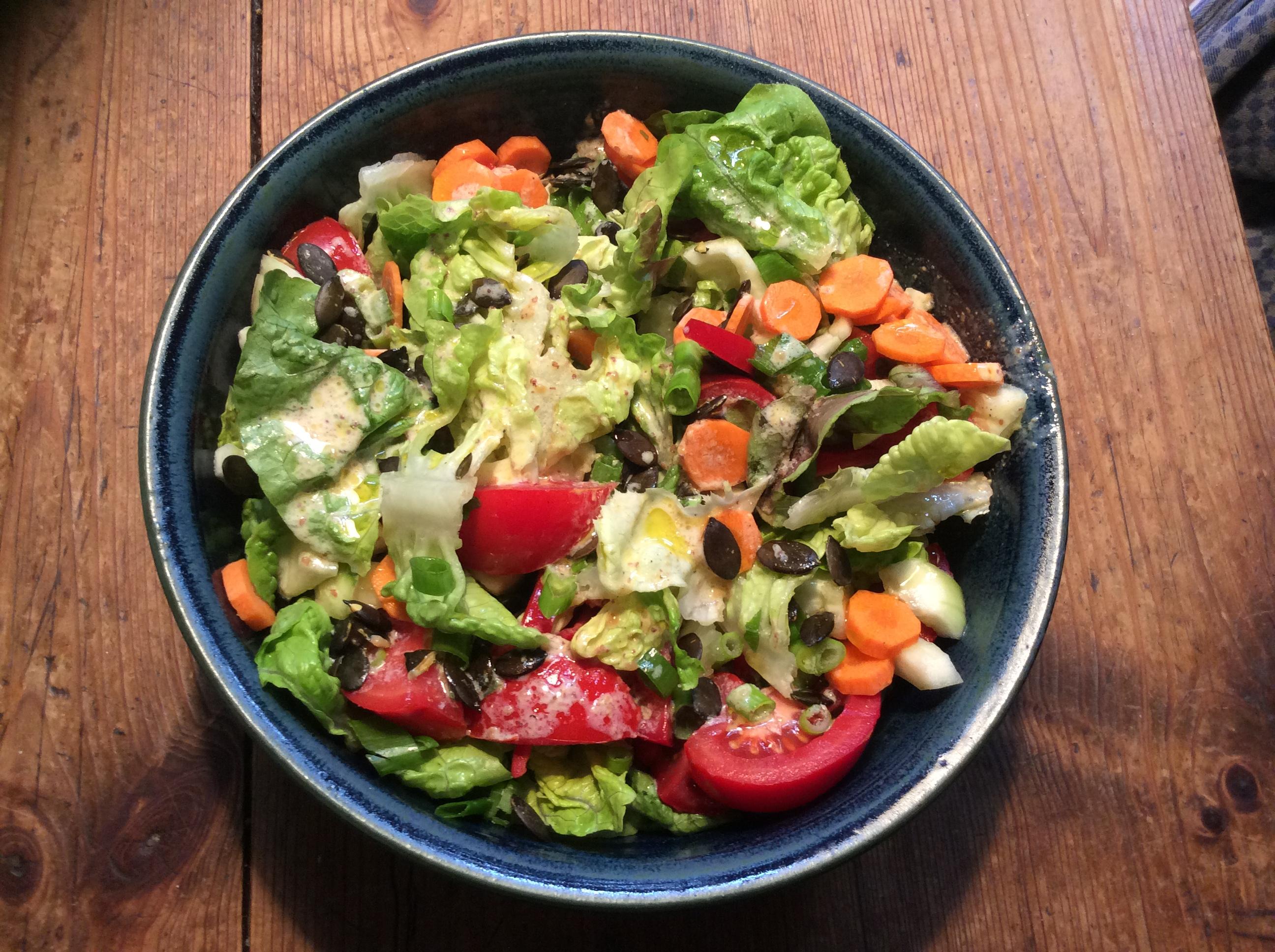Marinierter Hering,gemischter Salat,Kartoffeln - 7.10.15   (1d)