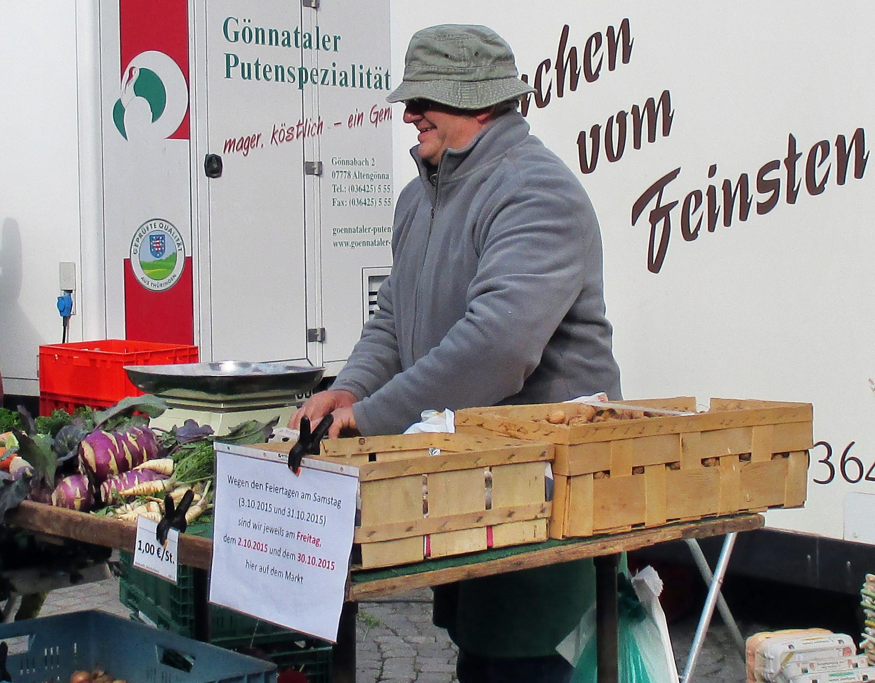 Wochenmarkt Jena -24.10.15   (1)