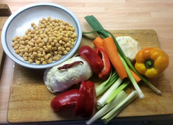 12.3.16 - Kichererbsen-Gemüse Eintopf,Indische Art,vegan (3)