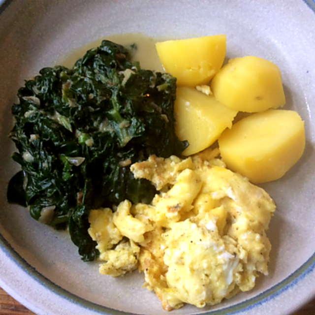 24.3.16 - Spinat,Rührei,Kartoffel,vegetarisch (7)