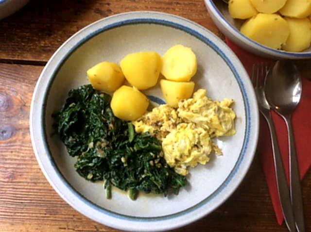 24.3.16 - Spinat,Rührei,Kartoffel,vegetarisch (8)