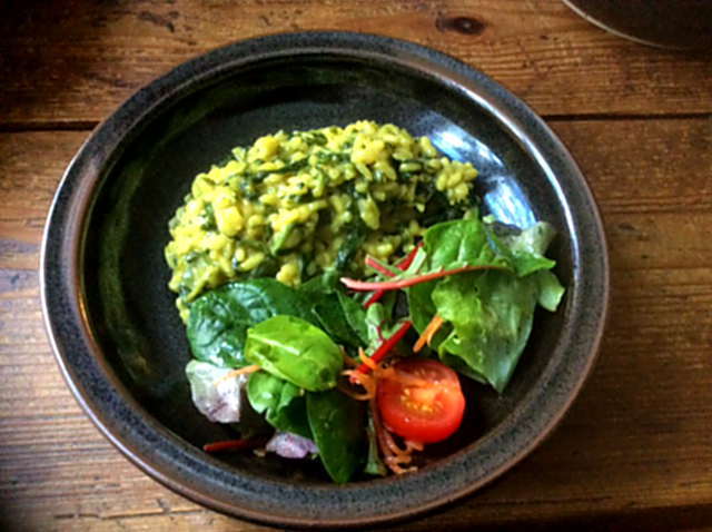 6.4.16 - Spinat Risotto,Salat,vegetarisch (1)