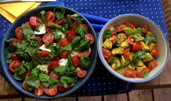 11.6.16 - Grüner Spargel,Ofenkartoffeln,Tomaten,Avocado,vegetarisch (6)