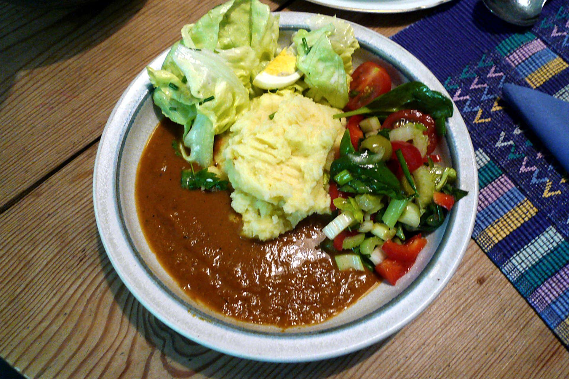 16.5.16 - Kartoffelbrei,Sauce Salte,vegetarisch (1)
