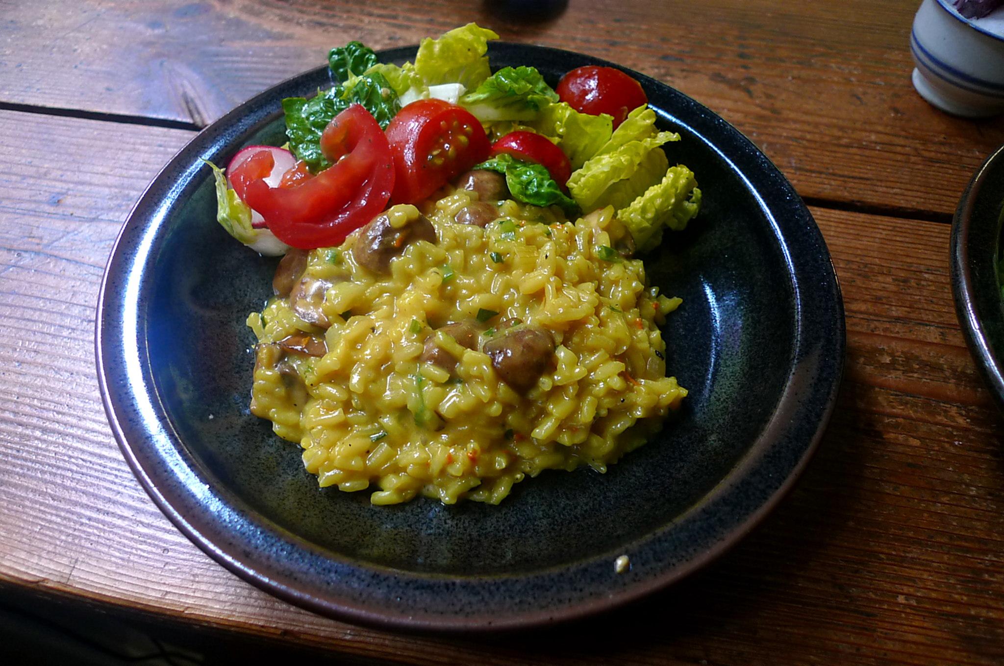 25.5.16 - Pilzrisotto,Dessert,vegetarisch (1)