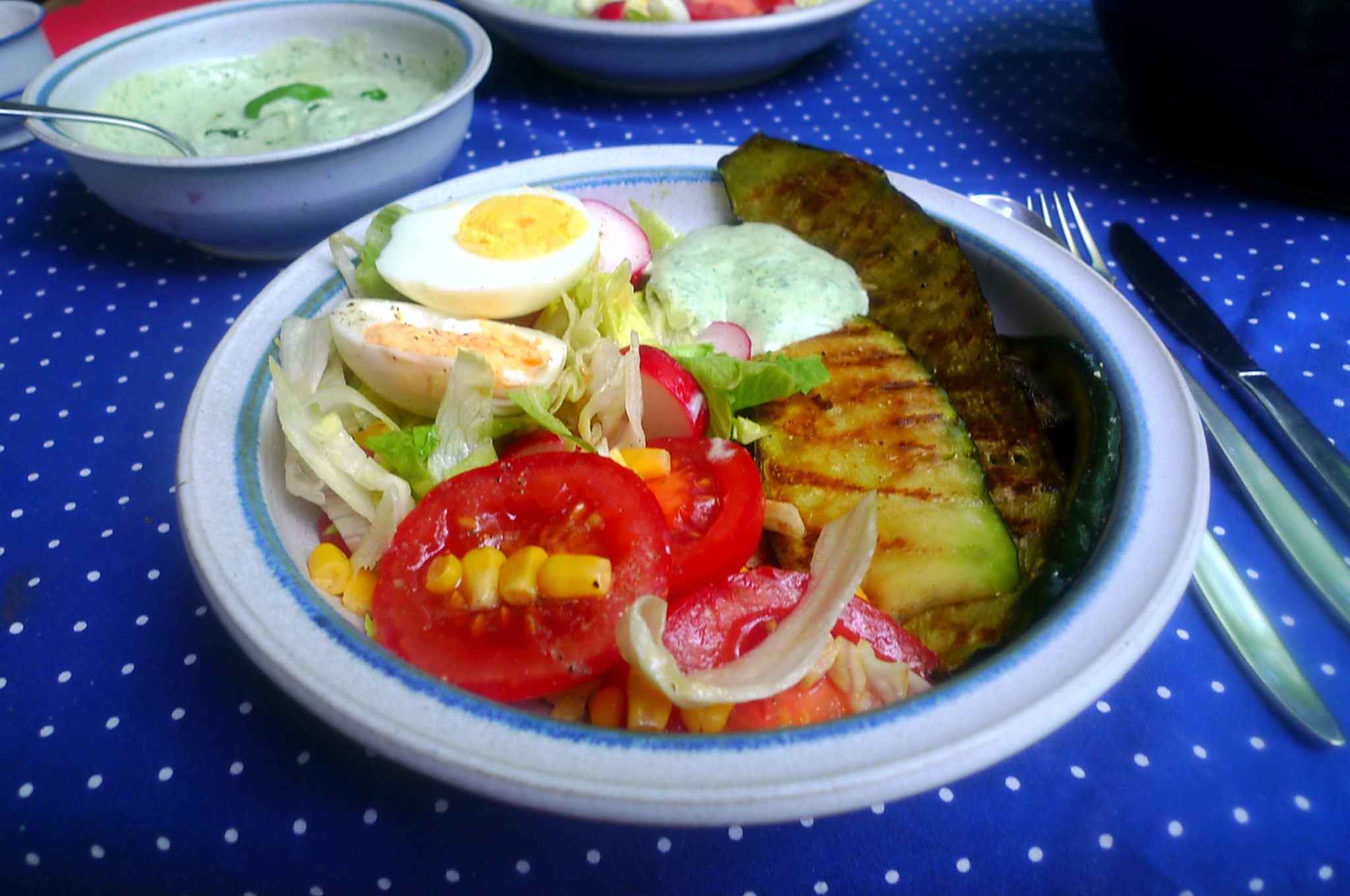 10.7.16 -. Salat,Zucchini,Dip,vegetarisch (12)