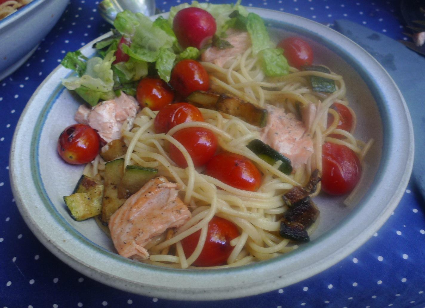 Lachs,Nudeln,Zucchini,Dessert (9) - Kopie