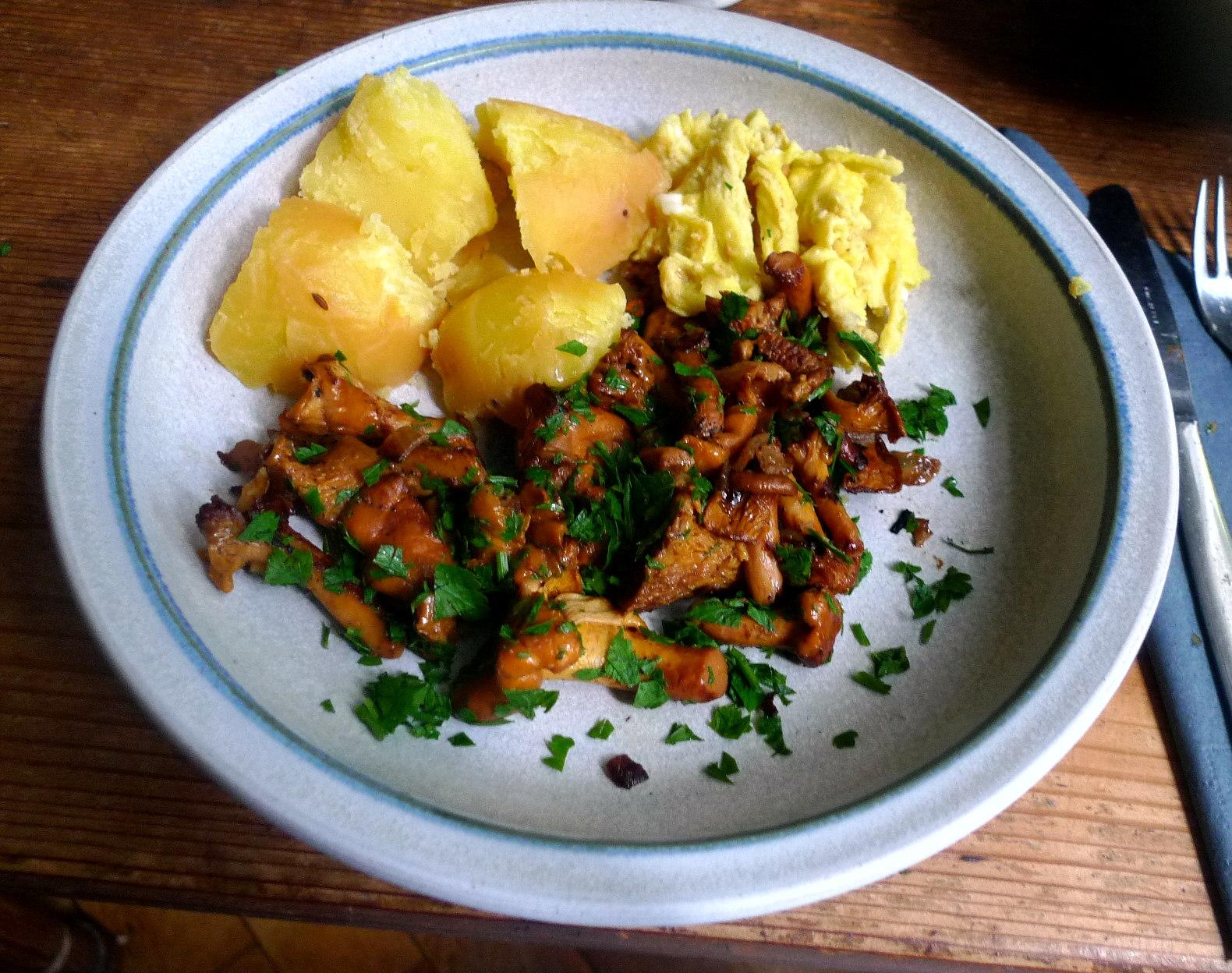 Pfifferlinge,Kartoffel,Rührei (7)