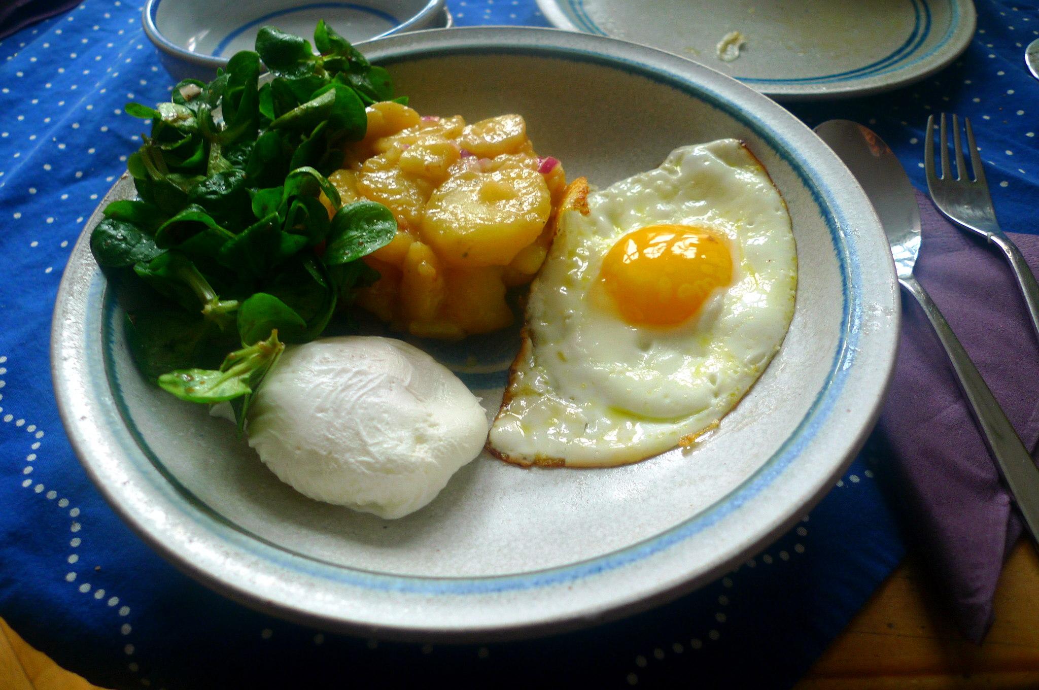 schwabischer-kartoffelsalatfeldsalatpochiertes-eispiegeleivegetarisch-16