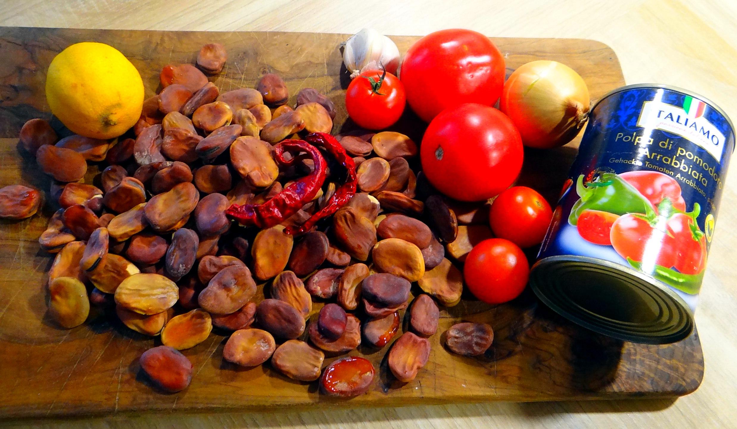 Bohnen in Tomaten (1c)