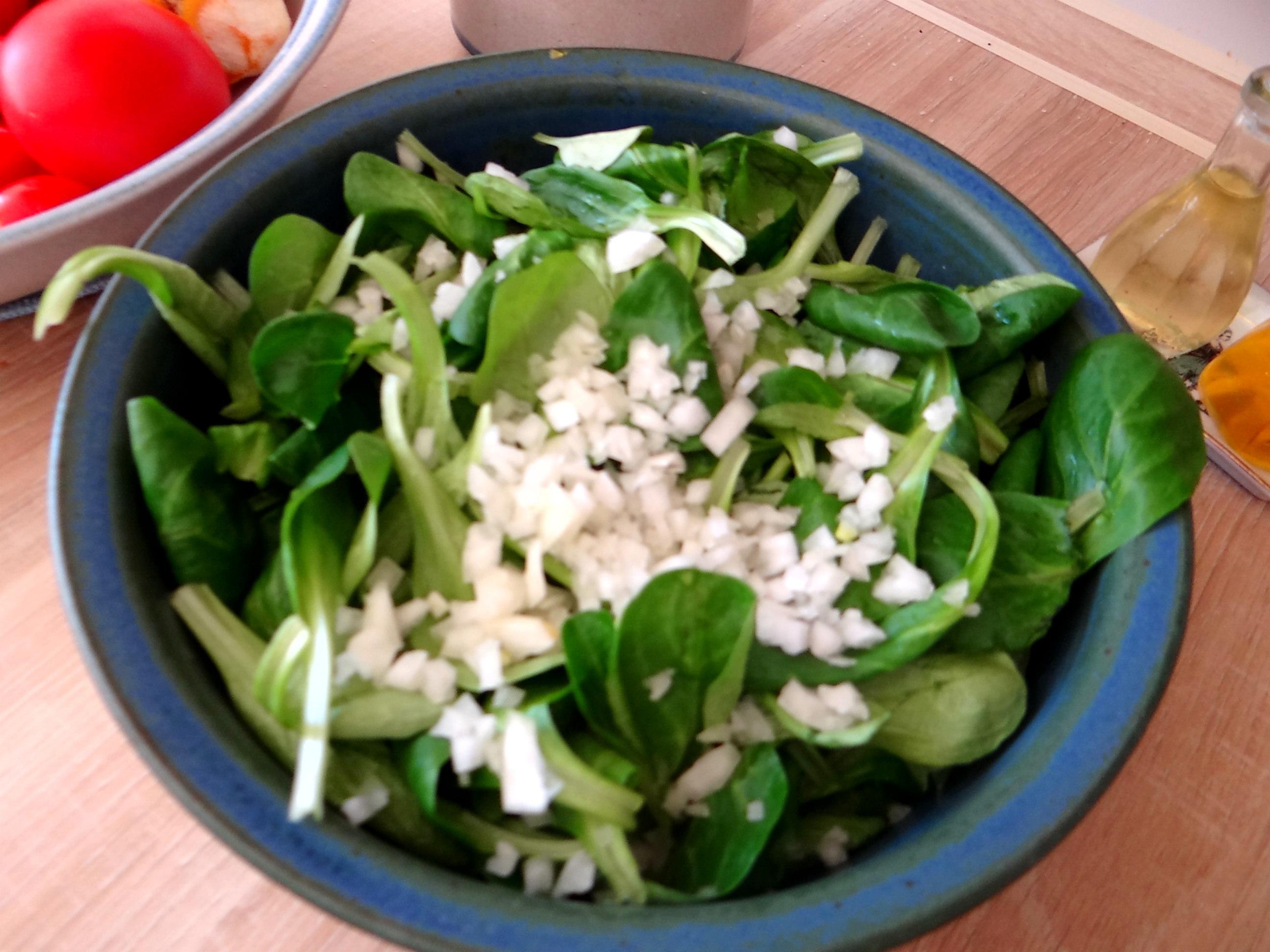 Kartoffelbrei,Salate,Spiegelei (6)