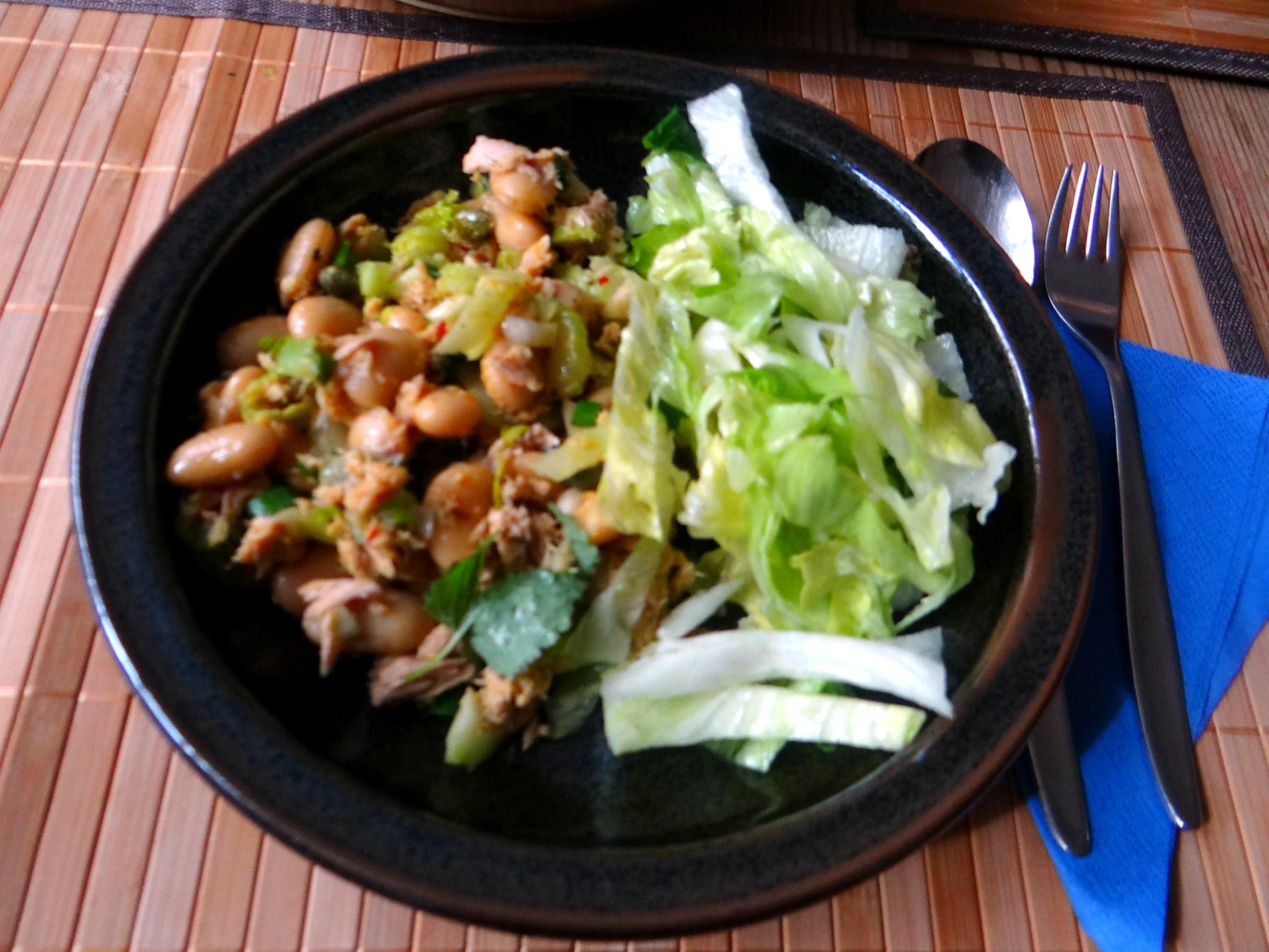Bohnen,Thunfisch,Sellerie Salat (15)