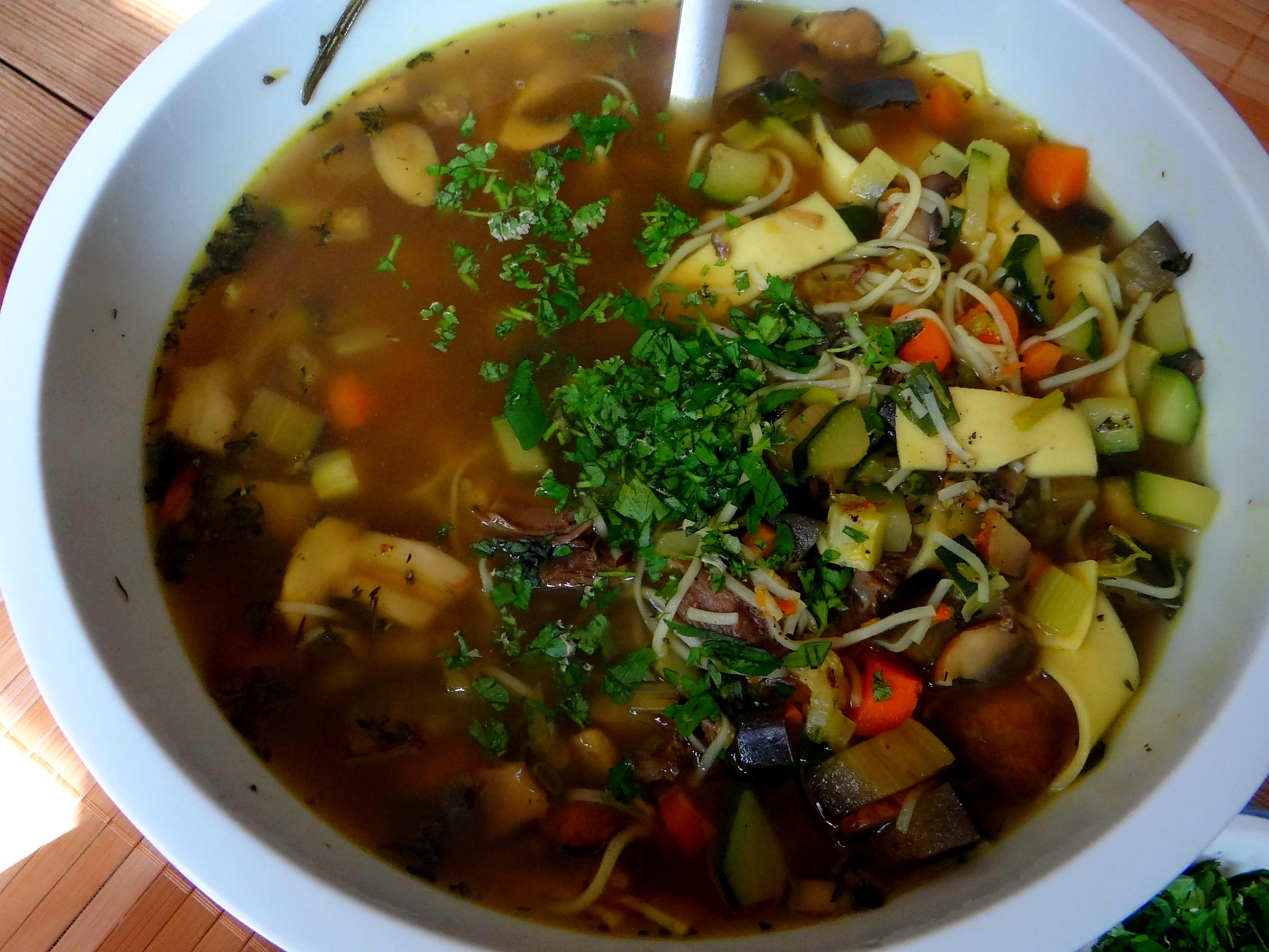 Gemüsesuppe mit Nudeln (7)