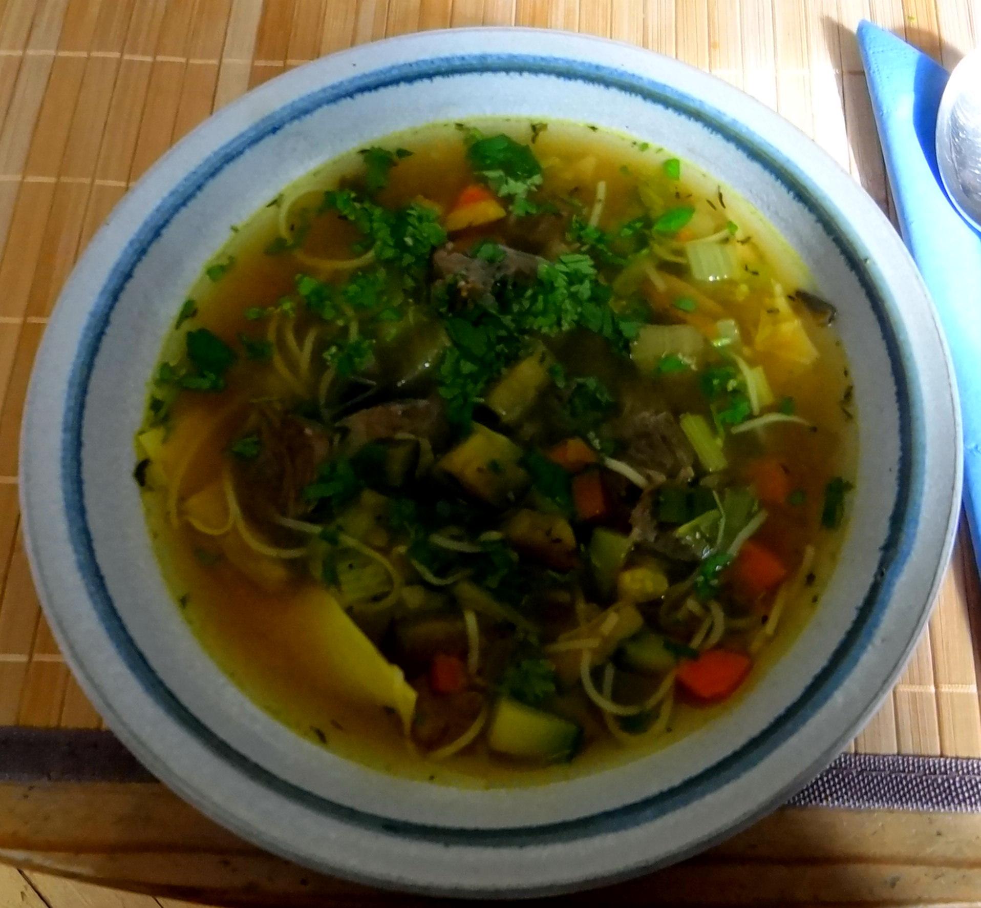 Gemüsesuppe mit Nudeln (9)