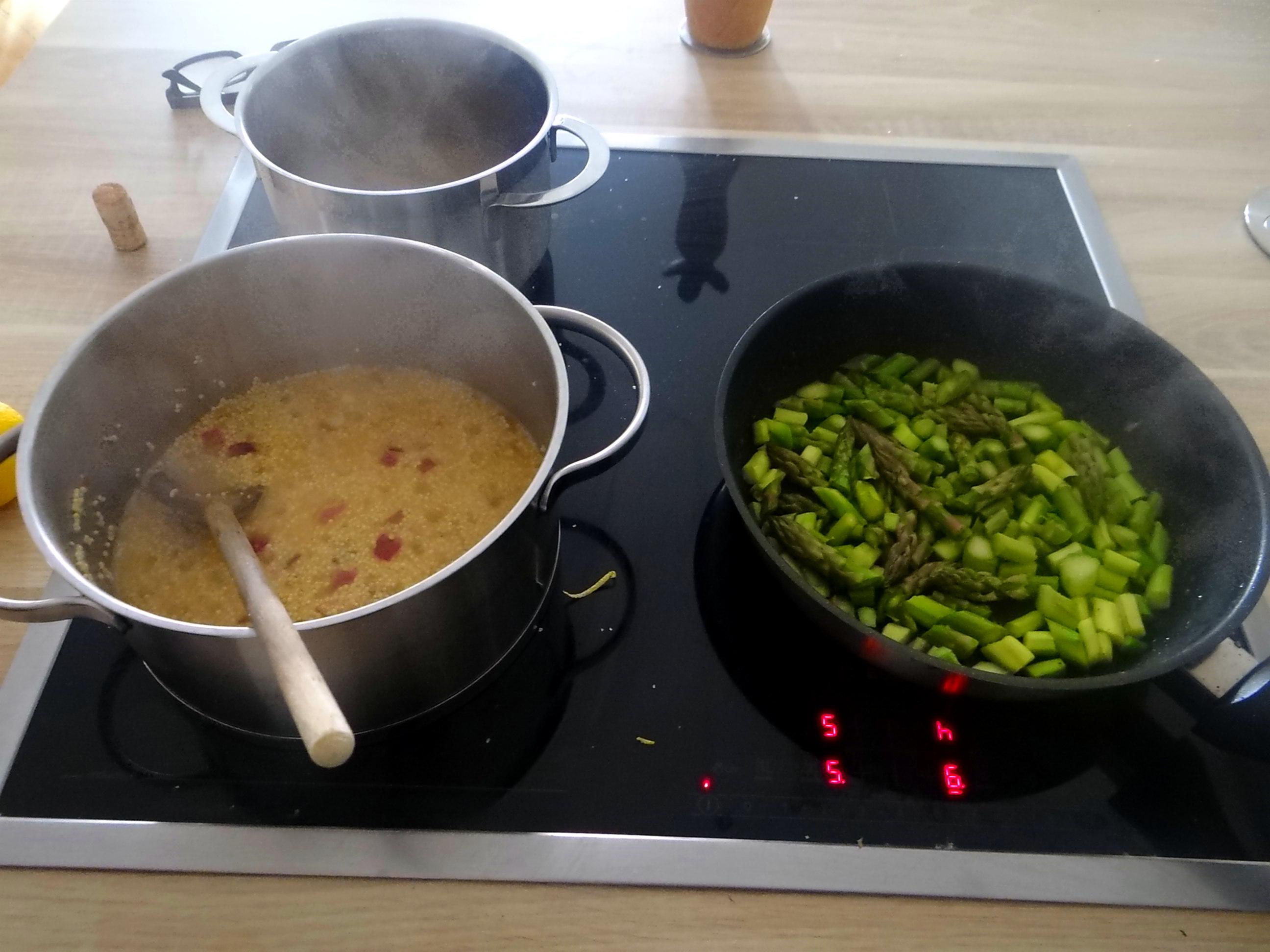 Hirsotto mit grünem Spargel,Gurkensalat (12)