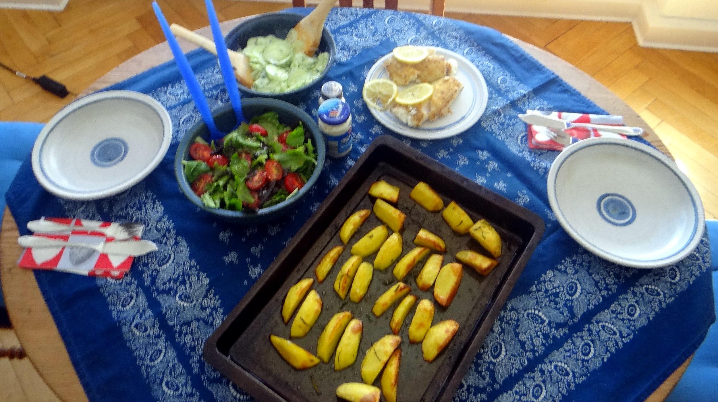 Kabeljau,Salate,Ofenkartoffeln (4)