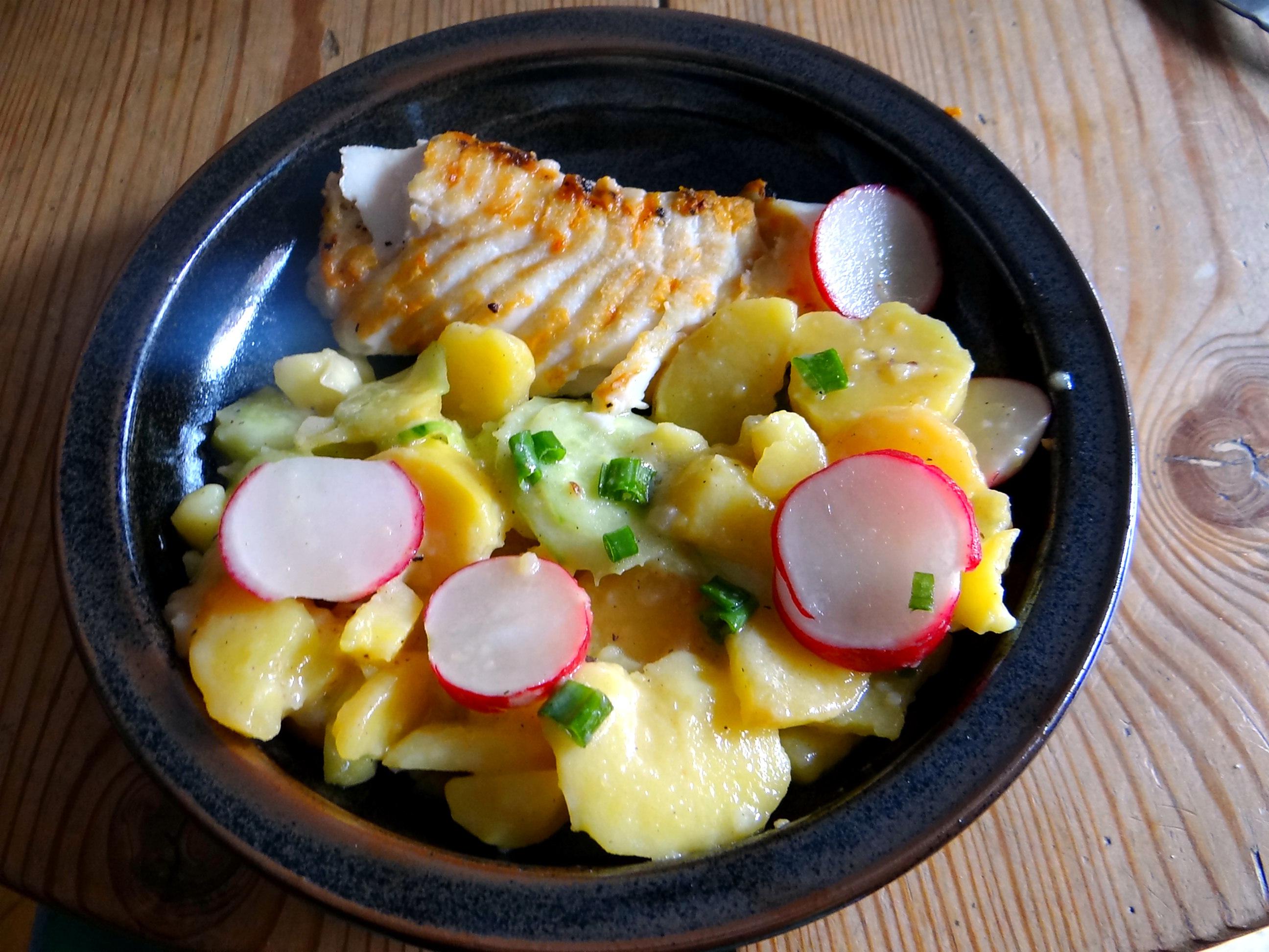 Kabeljau,Schwäbischer Kartoffelsalat (2)