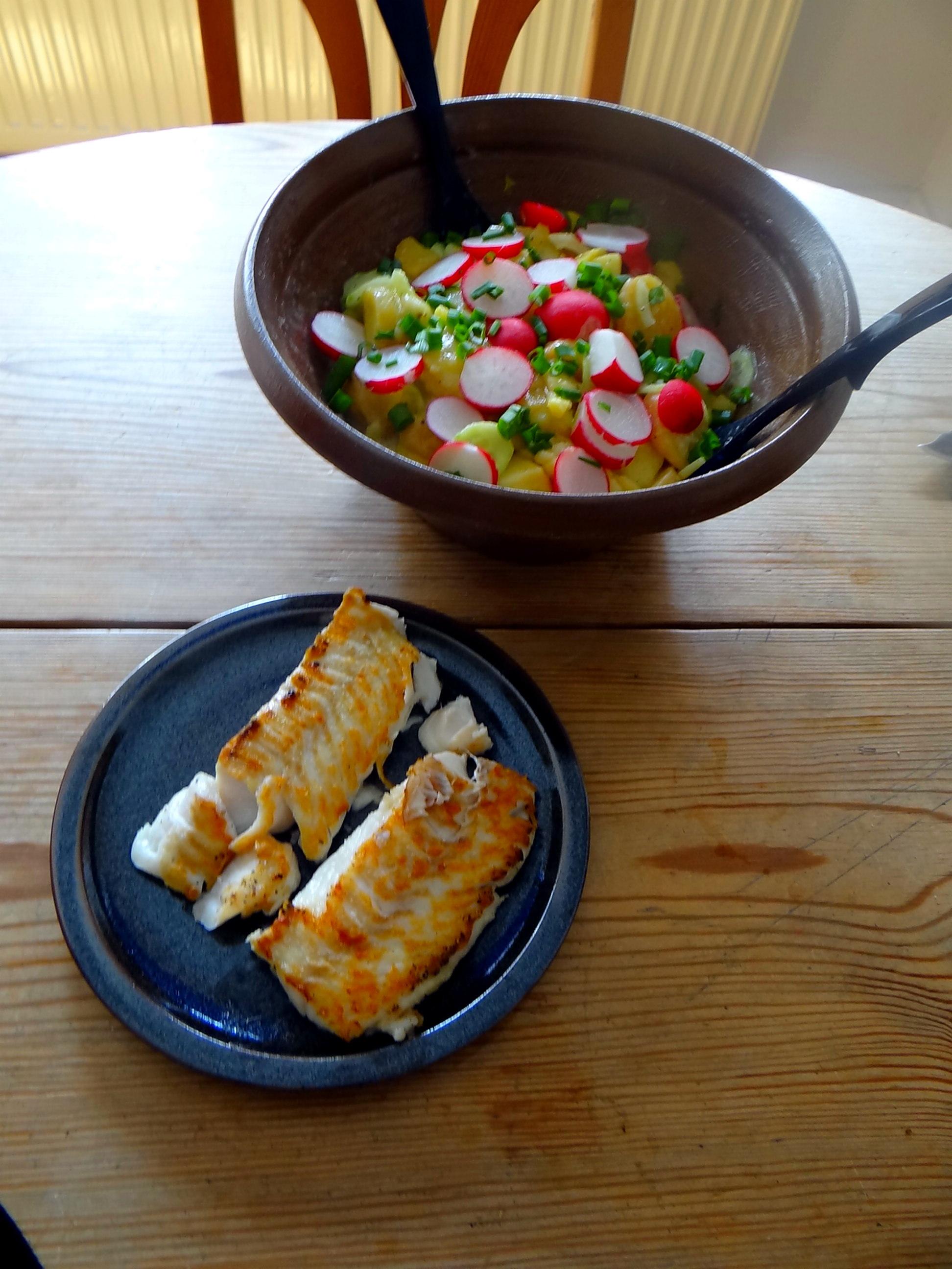 Kabeljau,Schwäbischer Kartoffelsalat (3)