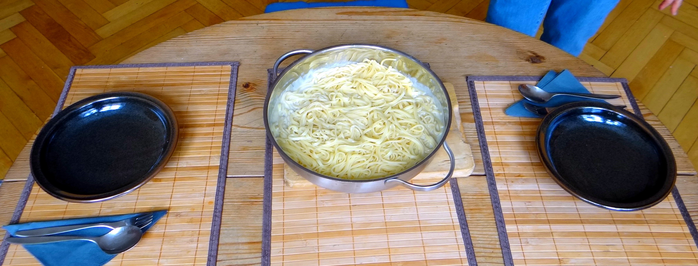 Linguine mit Gorgonzola Sauce (2b)