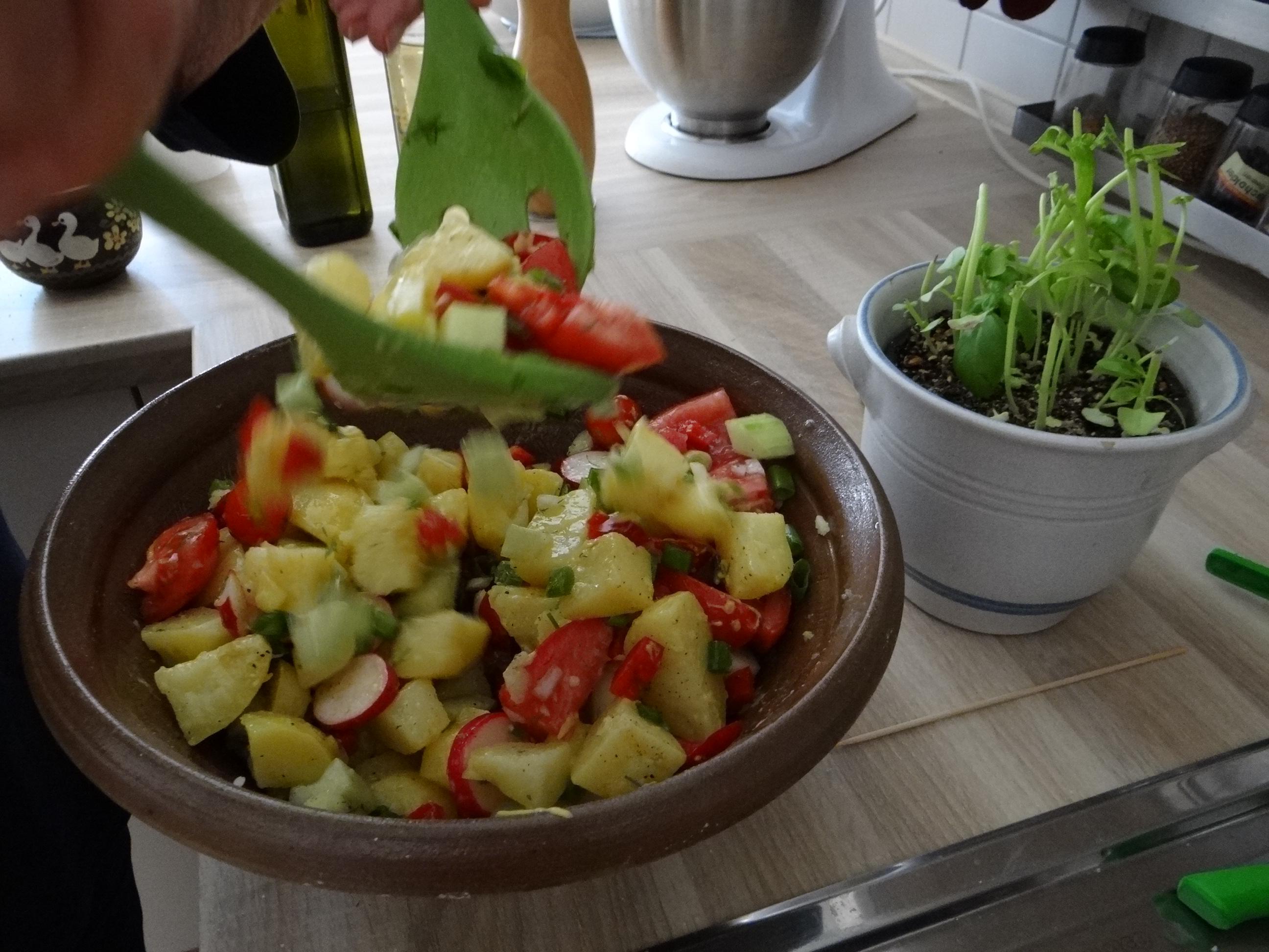 Mediterraner Kartoffelsalat,Bratwurst (11)