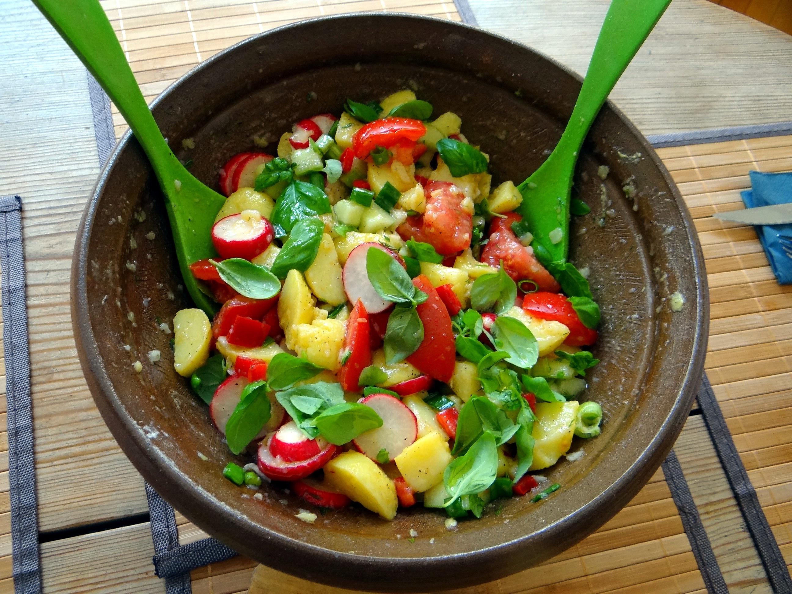 Mediterraner Kartoffelsalat,Bratwurst (12)