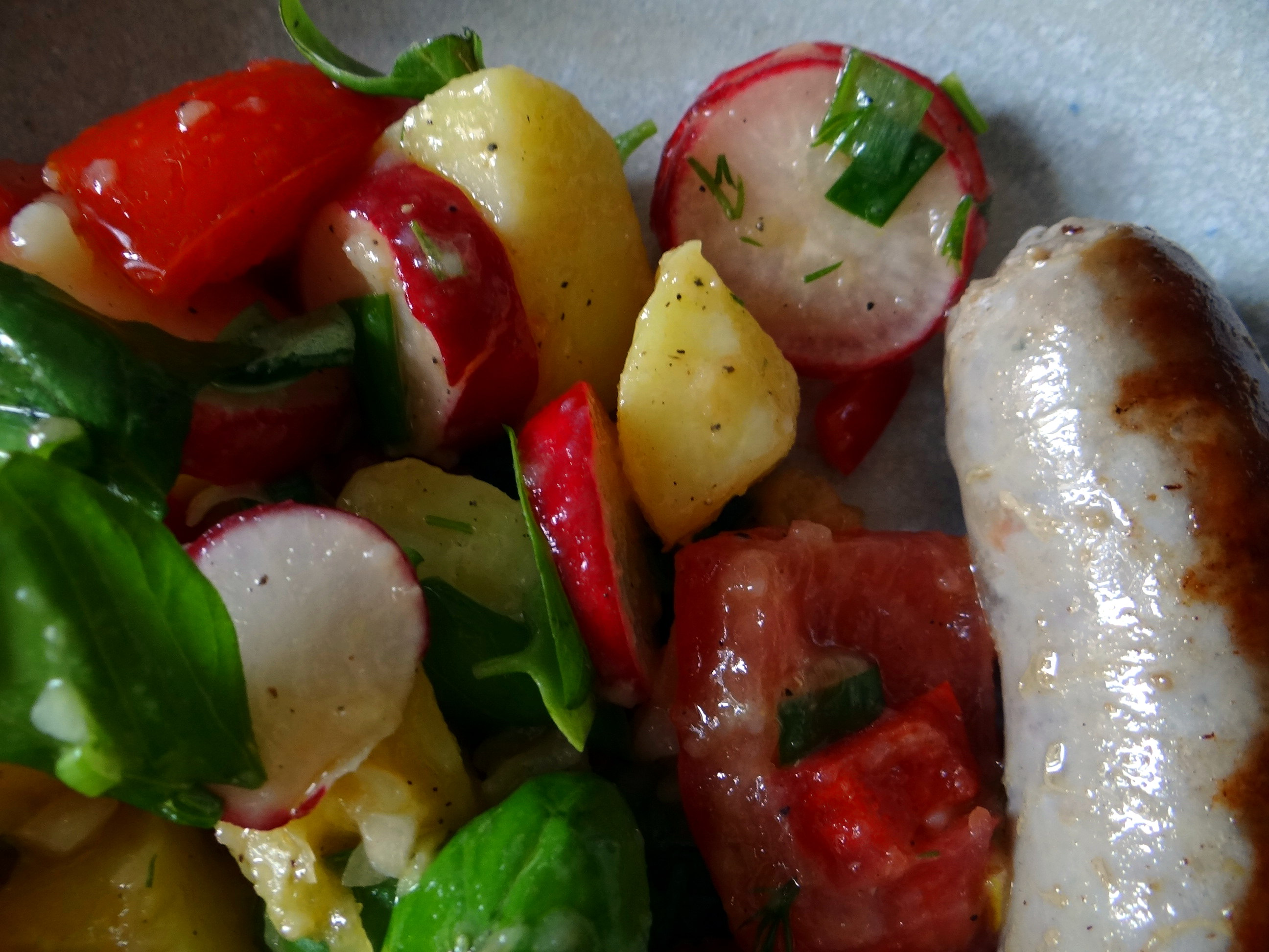 Mediterraner Kartoffelsalat,Bratwurst (3)