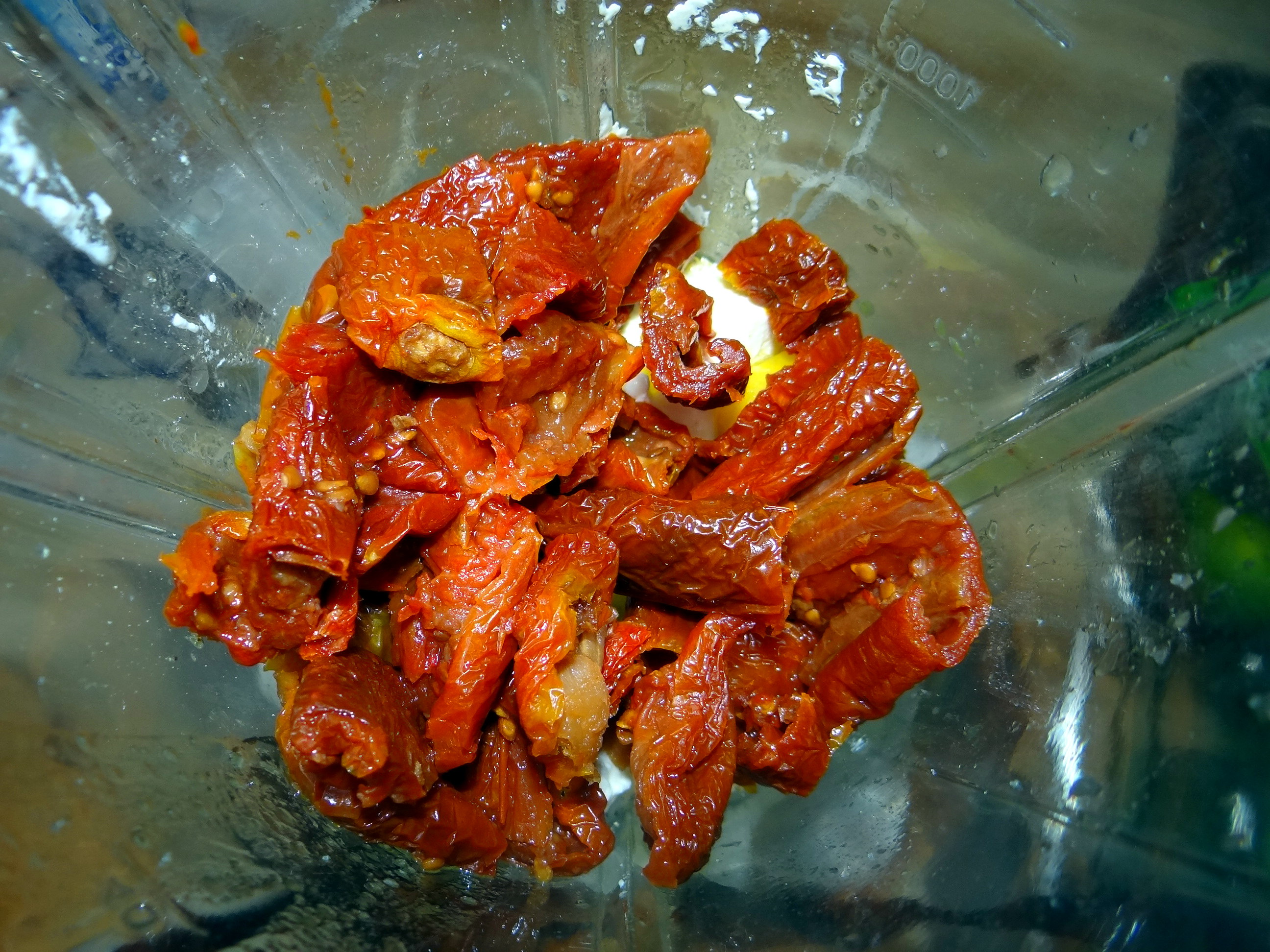 Süßkartoffel Spalten,Feta Creme,Salate (10)