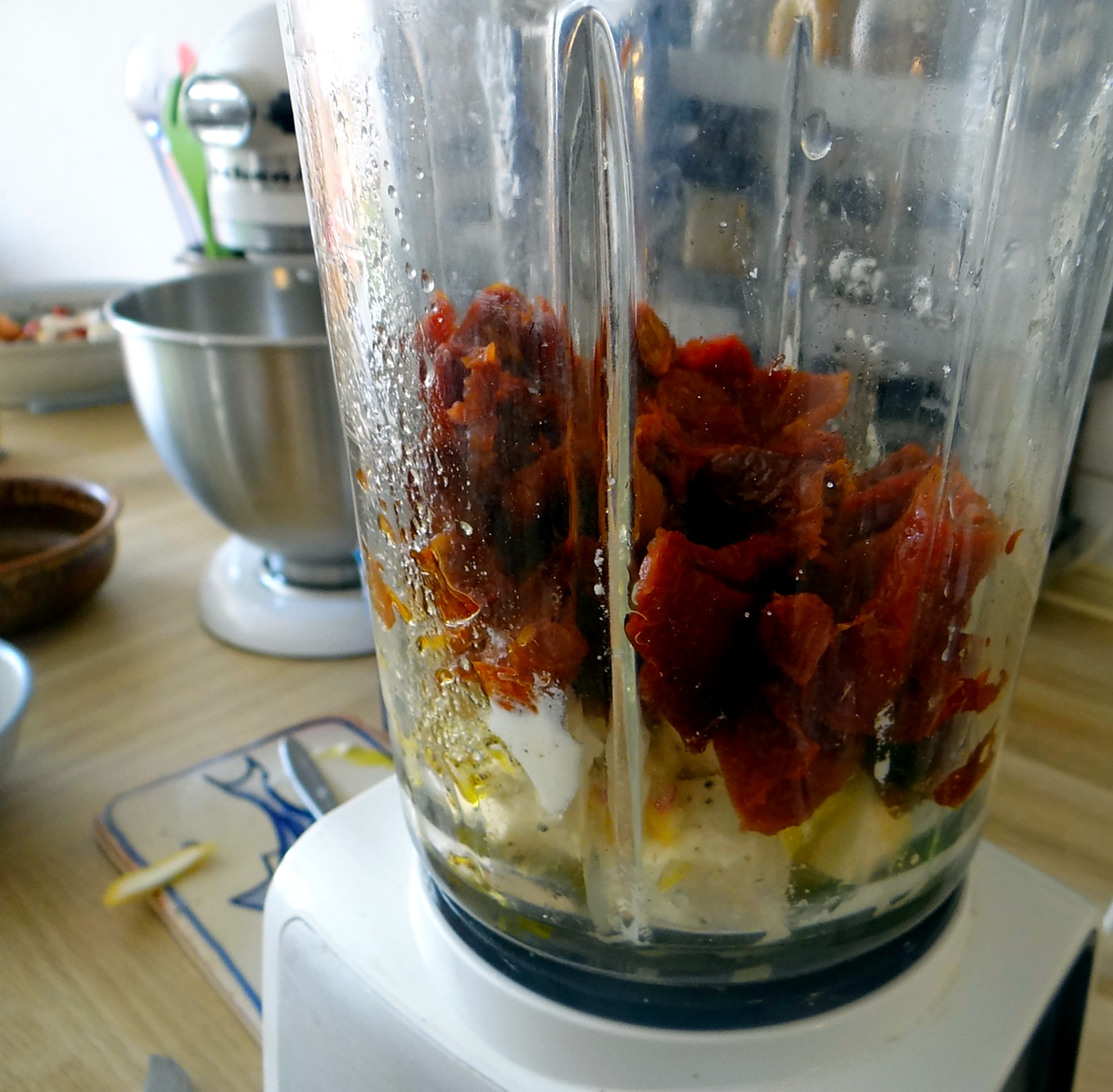 Süßkartoffel Spalten,Feta Creme,Salate (9)