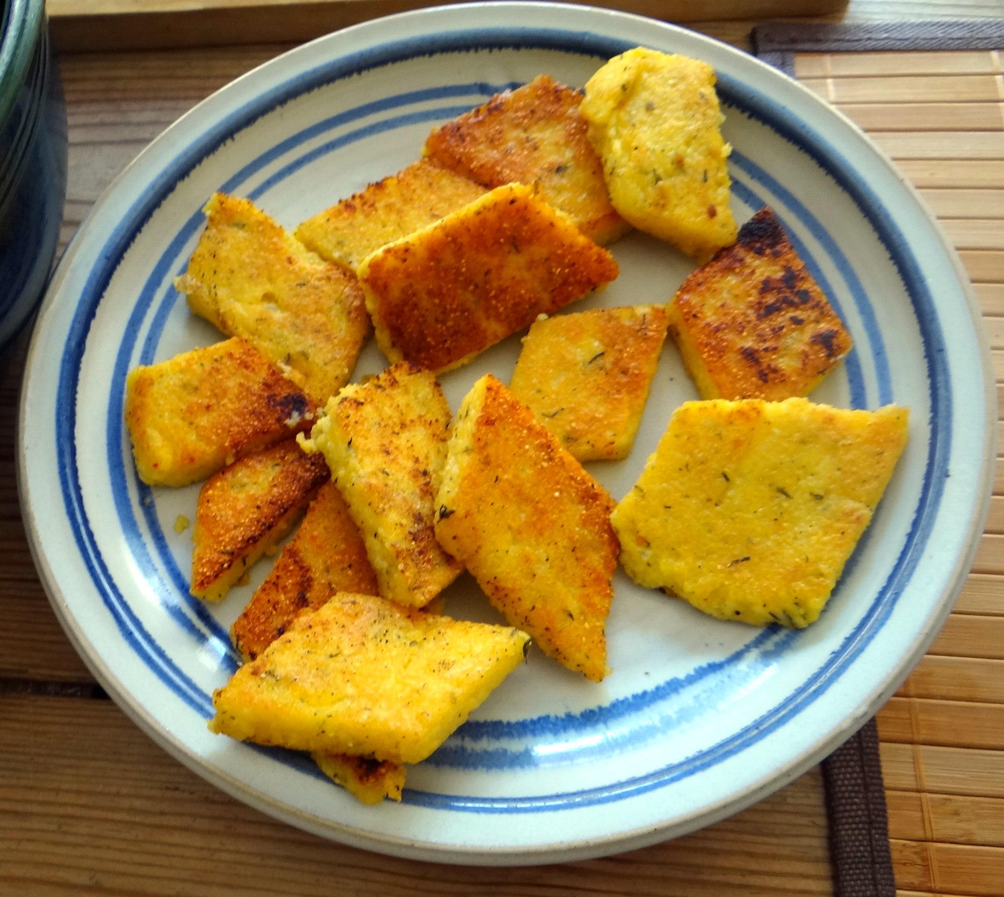 Shitake,Polenta,Pimientos,Salat, (11)
