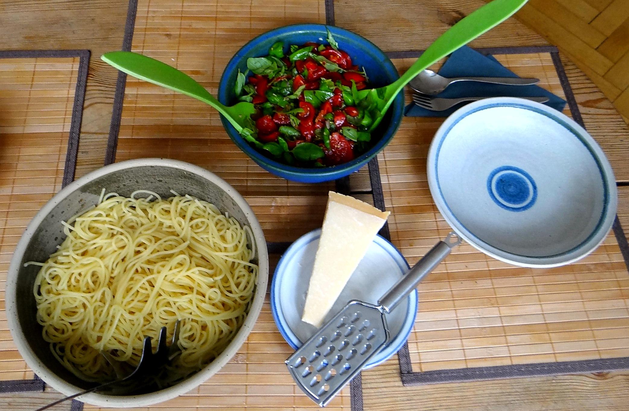 Spaghetti mit Keka,Waffeln (9)