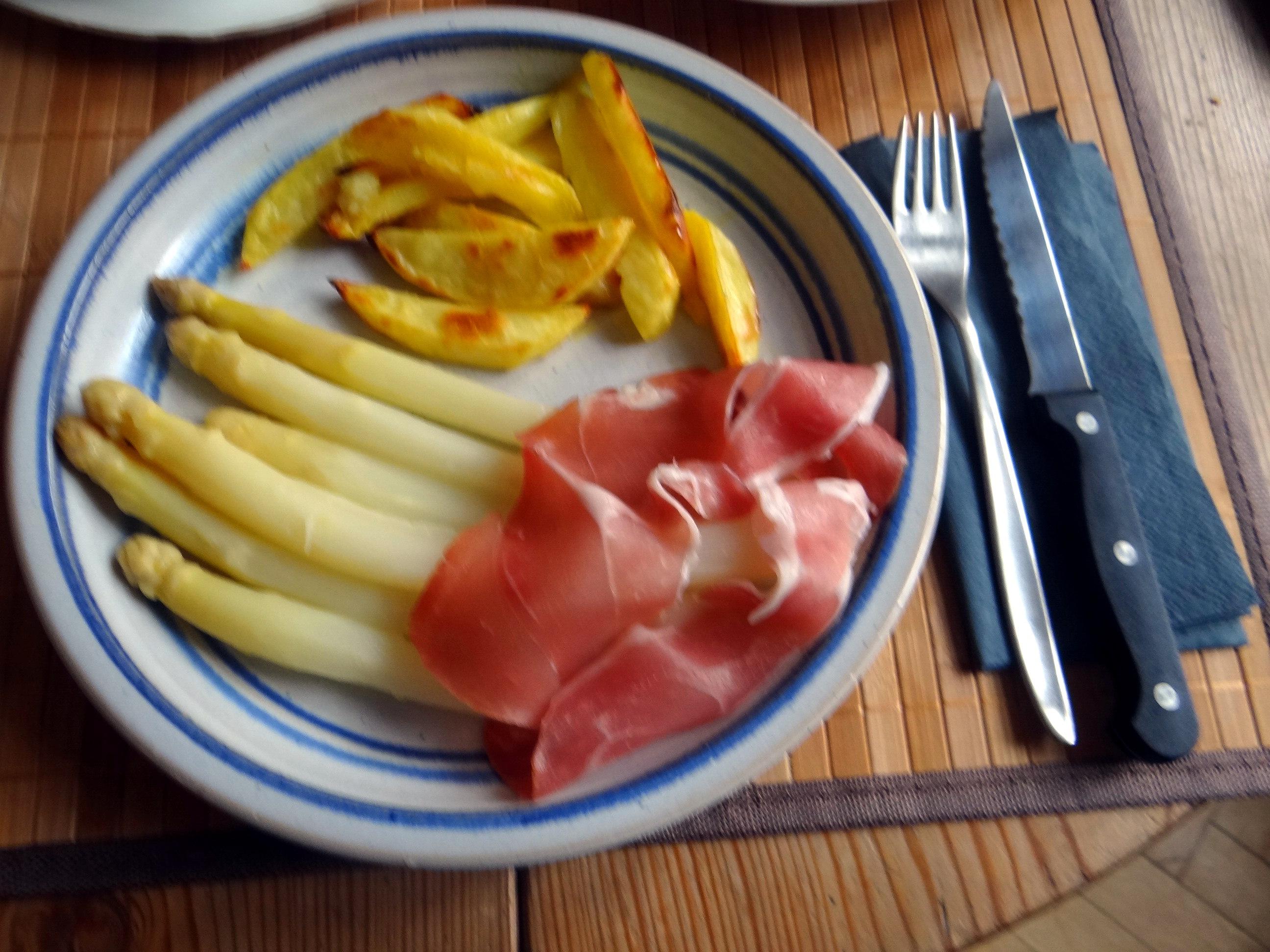 Spargel ,Pommes,Schinken (10)