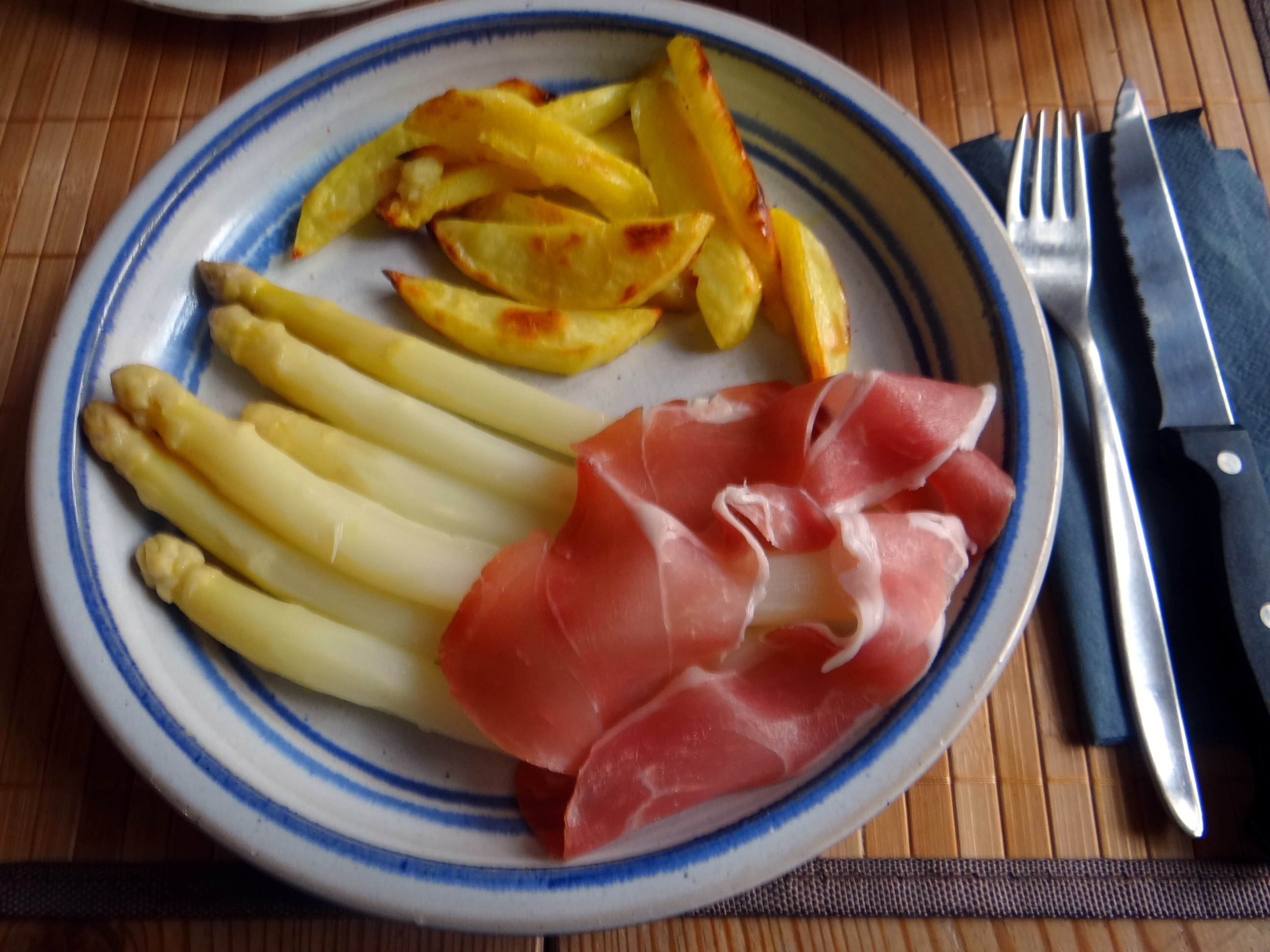 Spargel ,Pommes,Schinken (2)