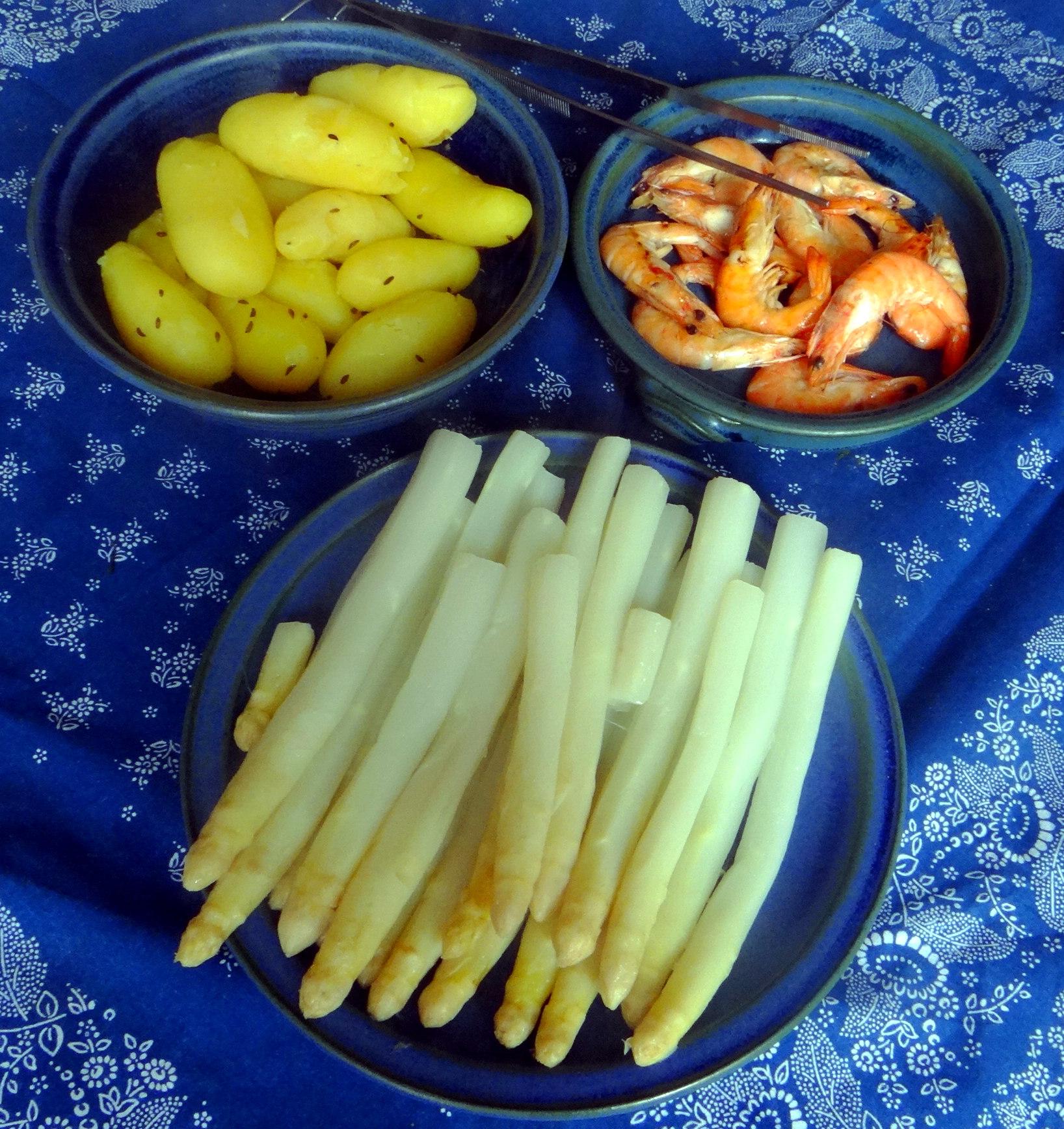 Spargel,Garnelen,Neue Kartoffeln,vegetarisch (4)