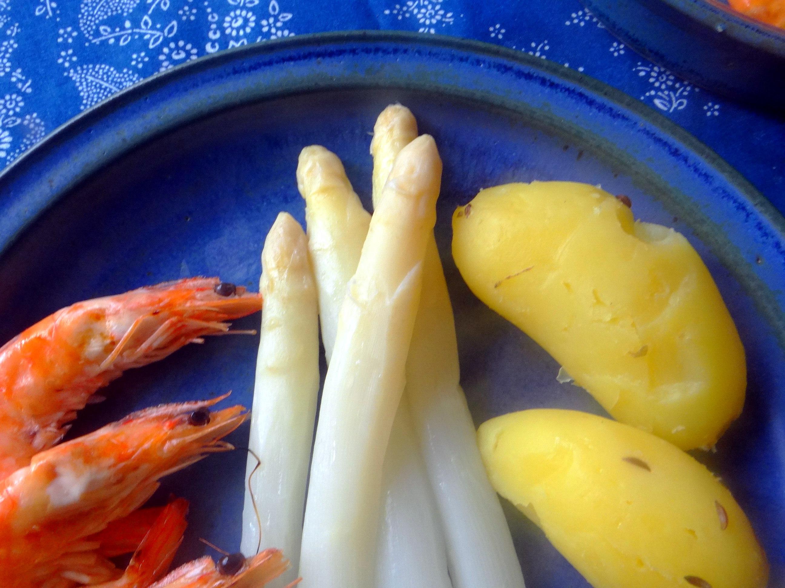 Spargel,Garnelen,Neue Kartoffeln,vegetarisch (5)