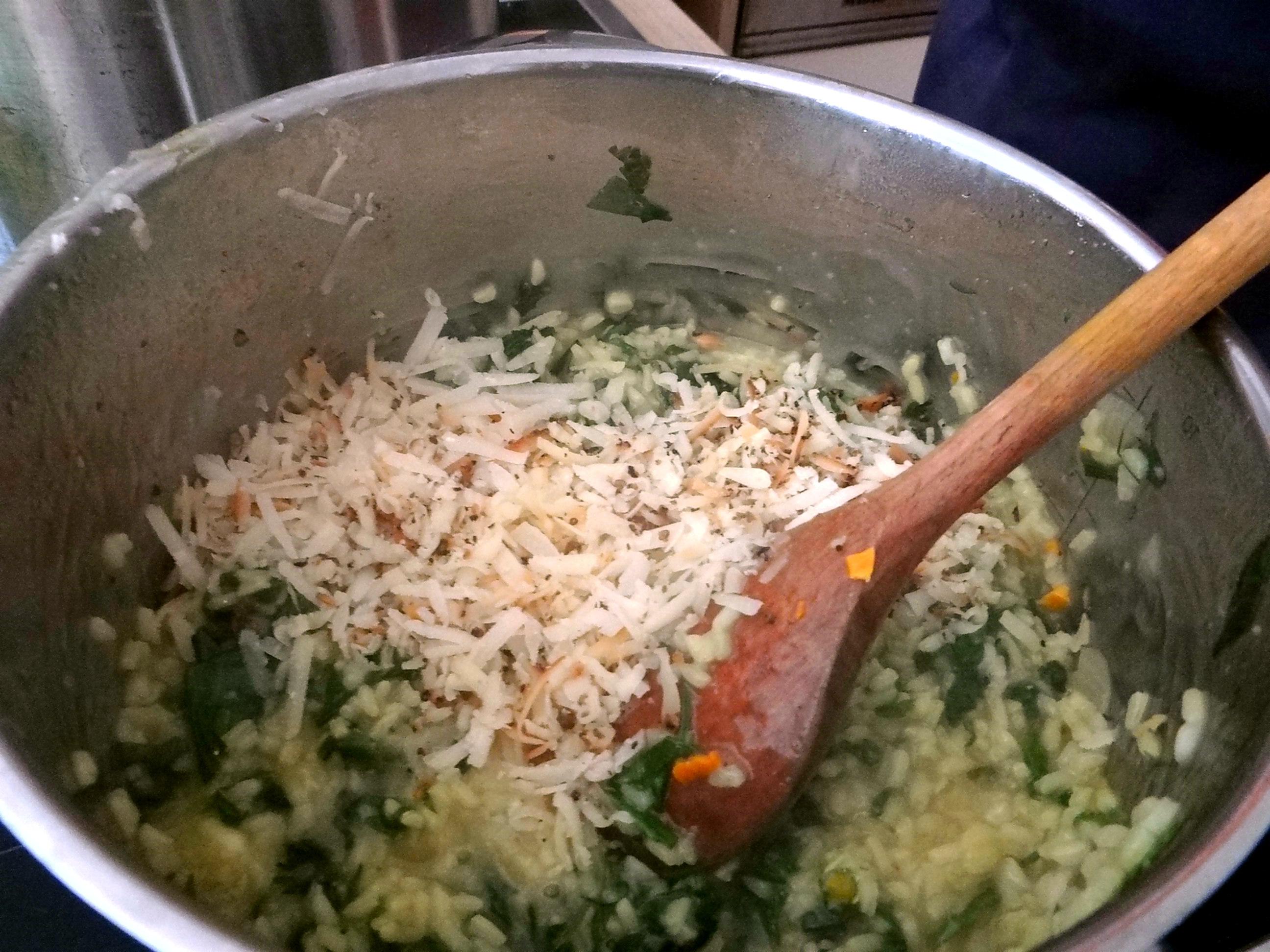 Zitronenrisotto mit Wildkräutern,Gurkensalat,Lollo Rosso,vegetarisch (27)