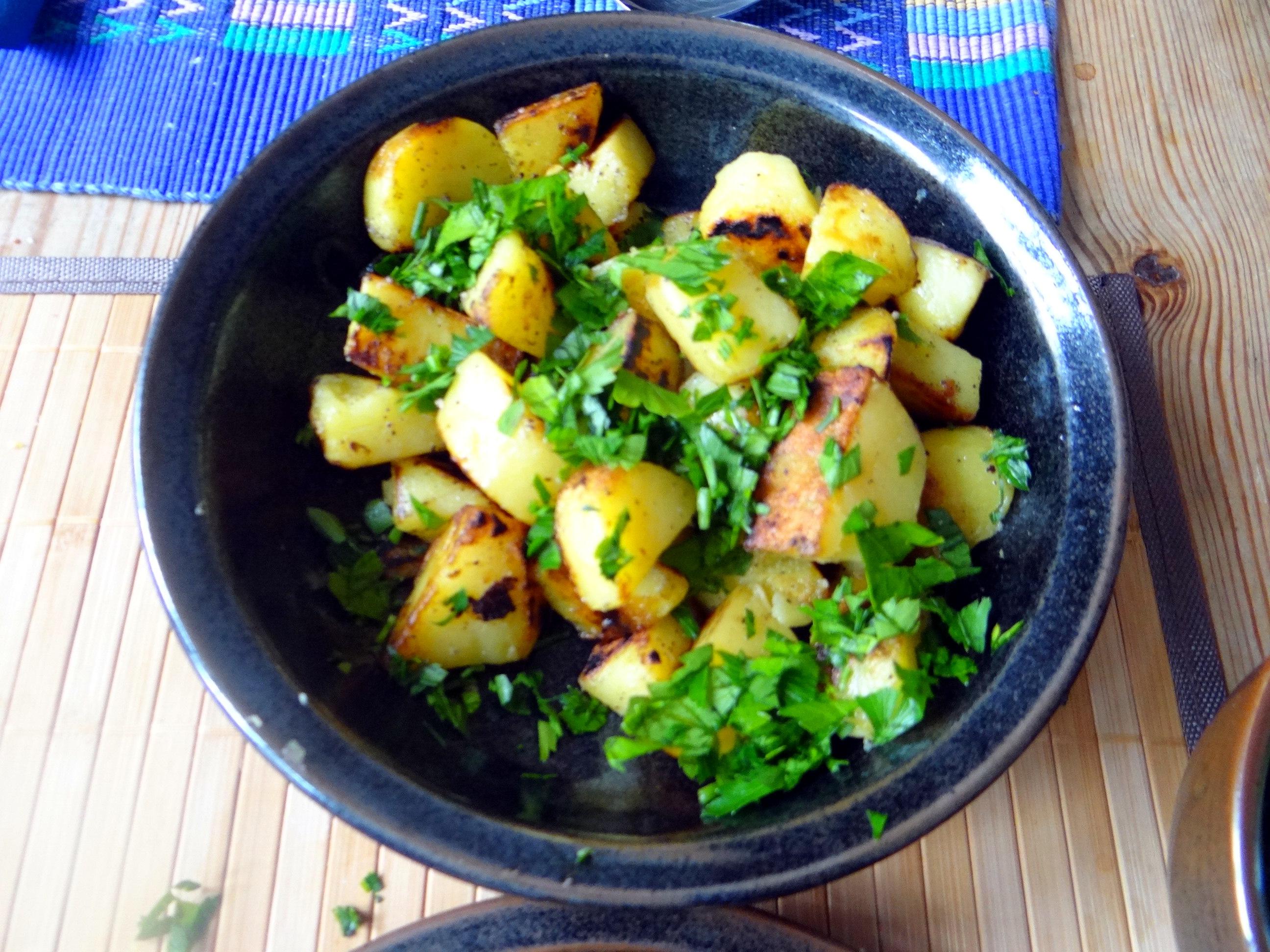 Fritierte Portobello,Bratkartoffeln,Pimientos,Salat,vegan (15)