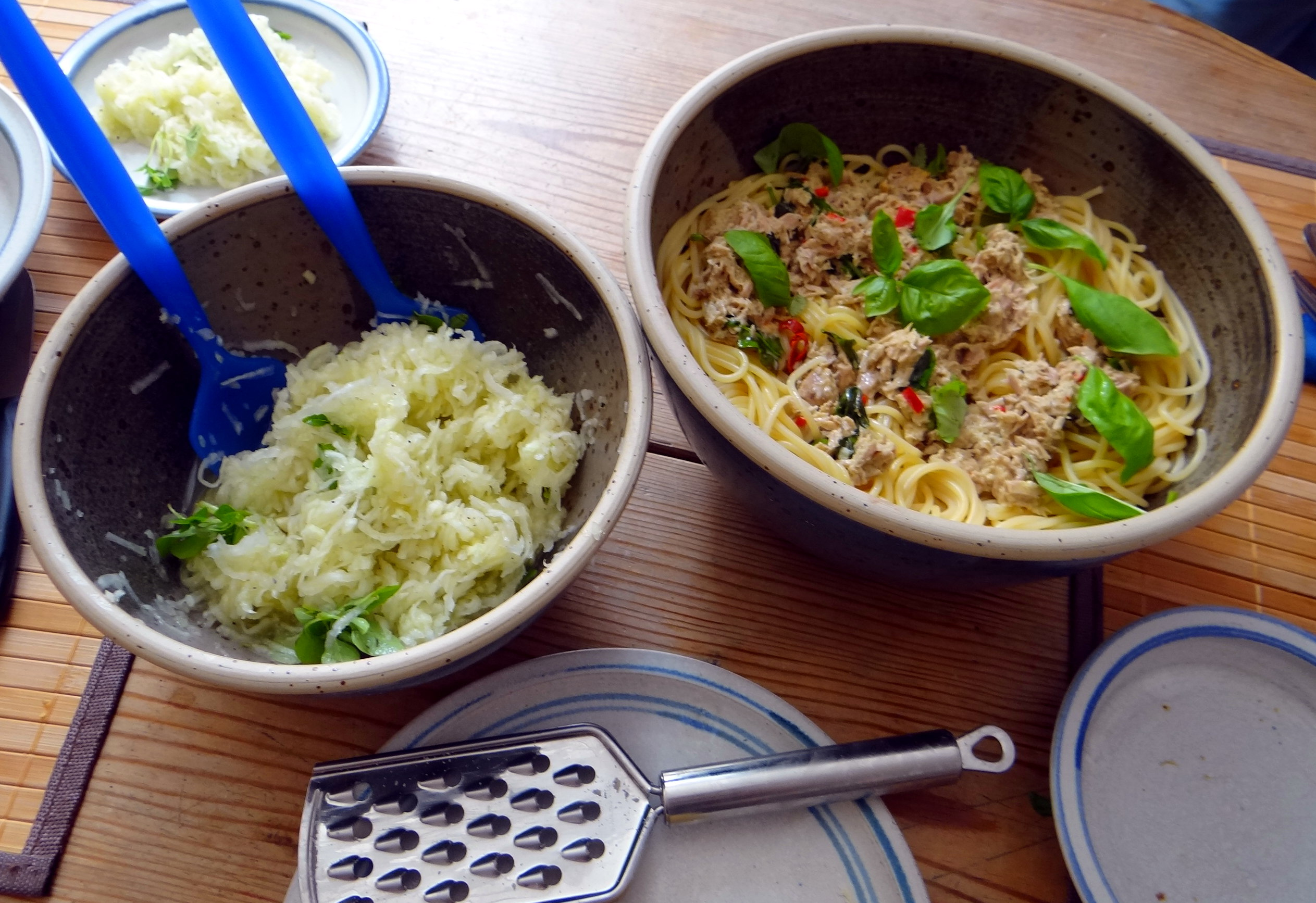 Pasta al Tonno,Spagetthi mit Thunfisch (5)