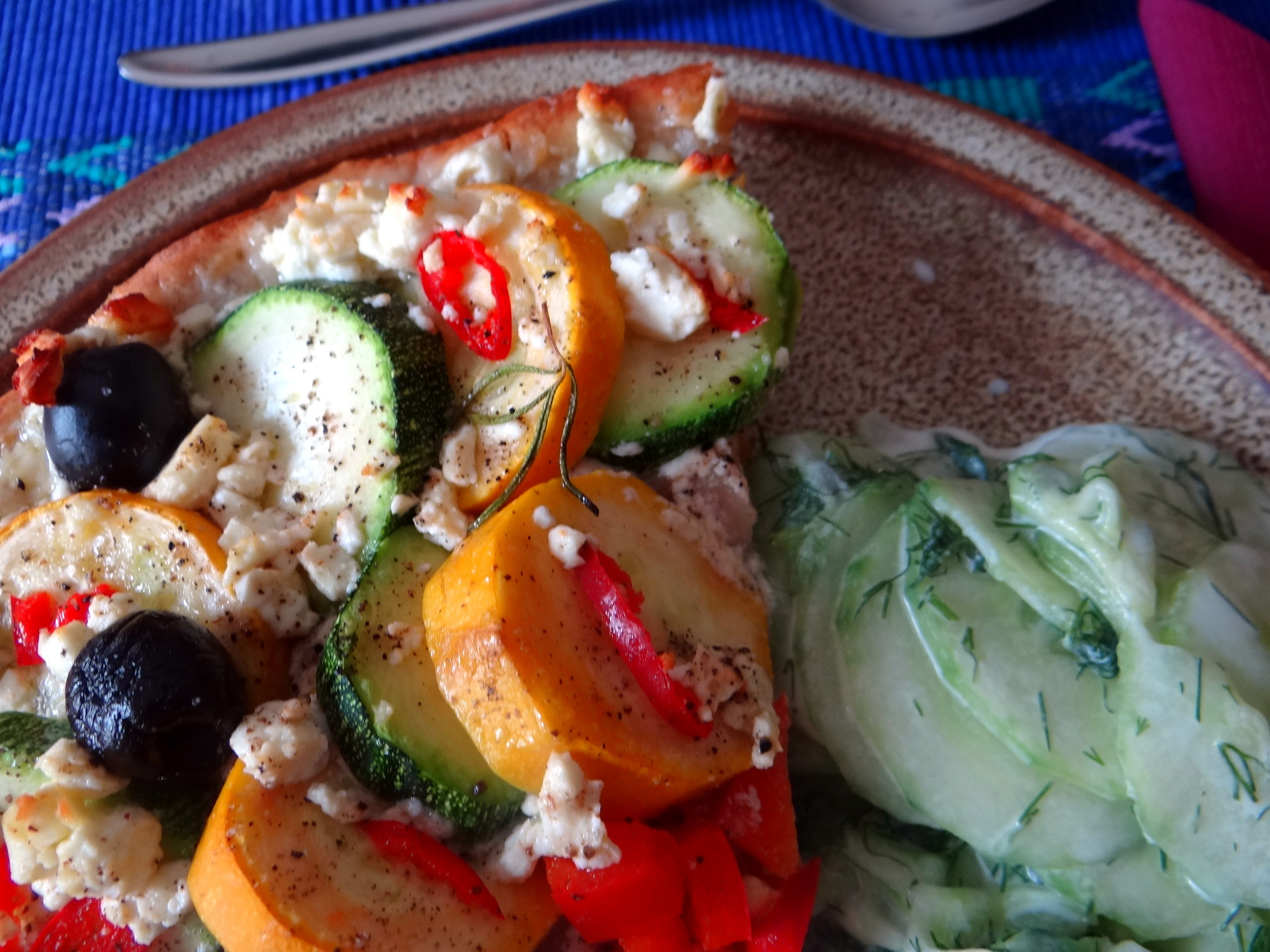 Zucchini Quiche,Quarkspeise, (3)