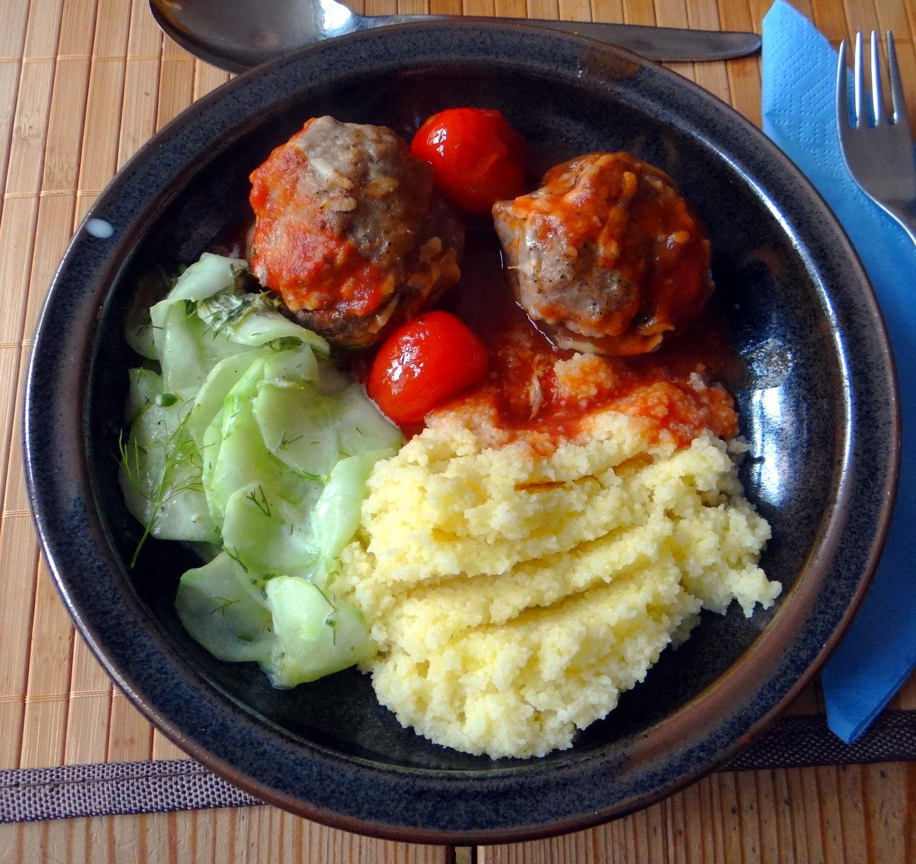 Gefüllte Portobello mit Couscous (2)