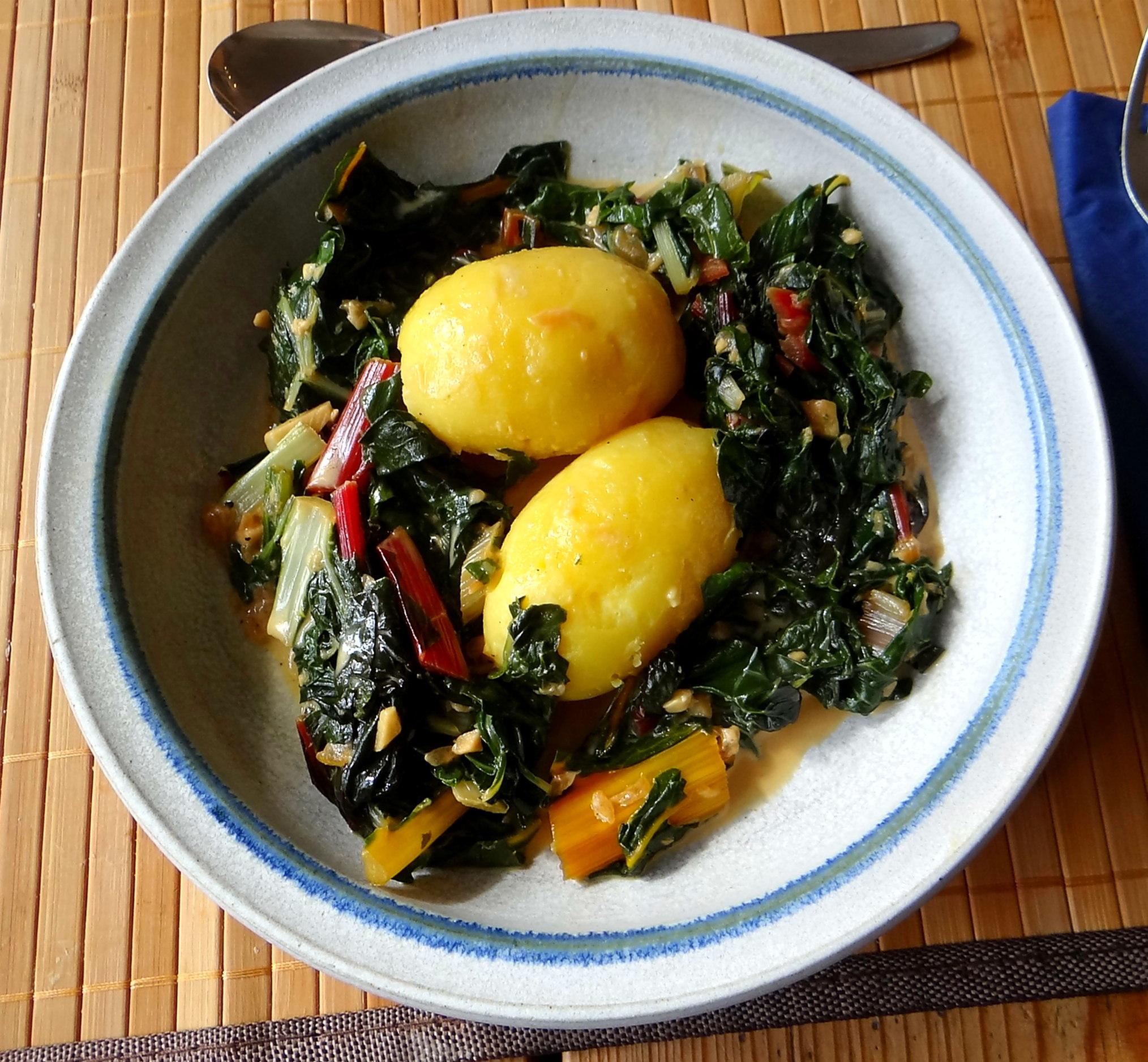 Mangold,Pellkartoffeln,Frische Feigen,Vegetarisch (1)