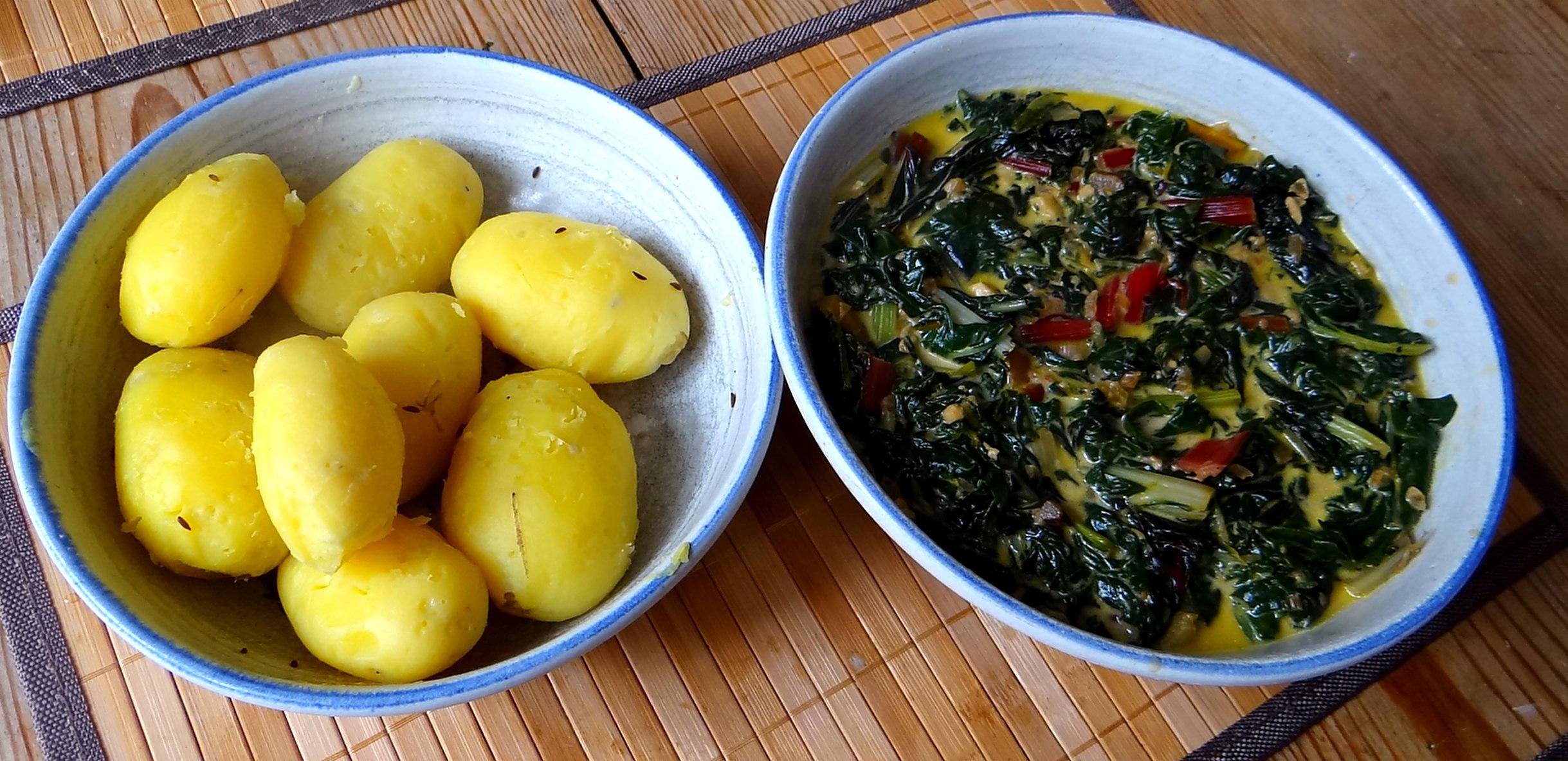 Mangold,Pellkartoffeln,Frische Feigen,Vegetarisch (12)