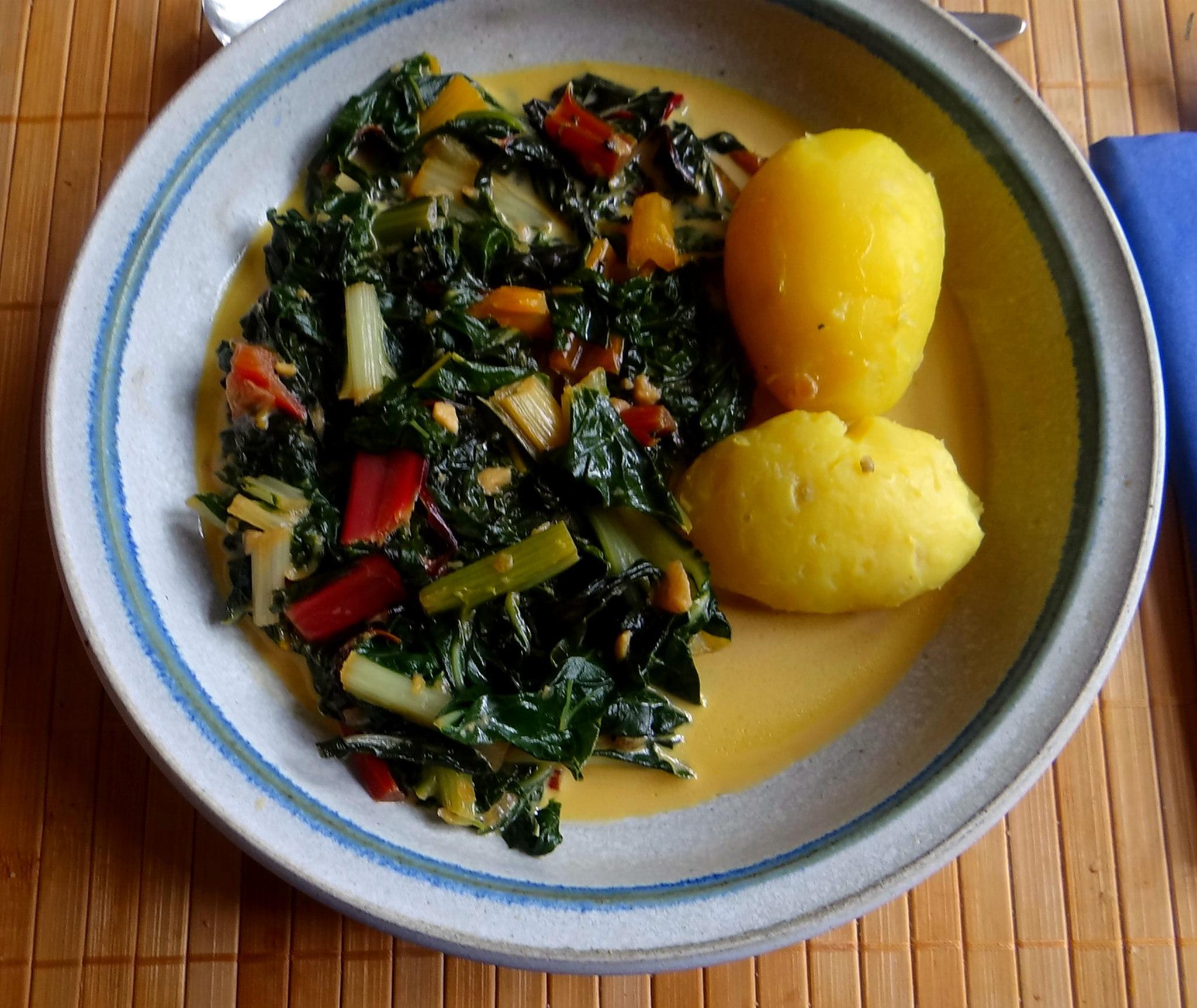 Mangold,Pellkartoffeln,Frische Feigen,Vegetarisch (15)