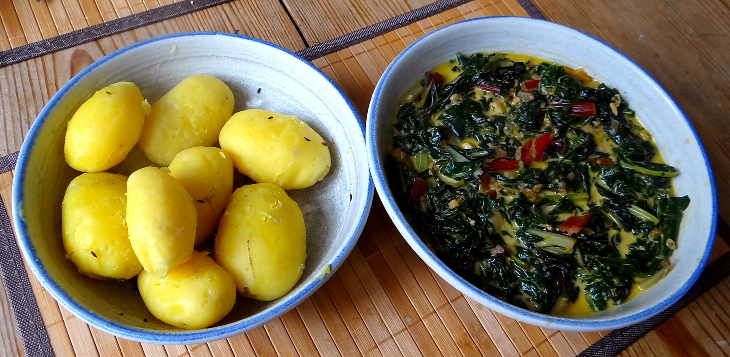 Mangold,Pellkartoffeln,Frische Feigen,Vegetarisch (3)