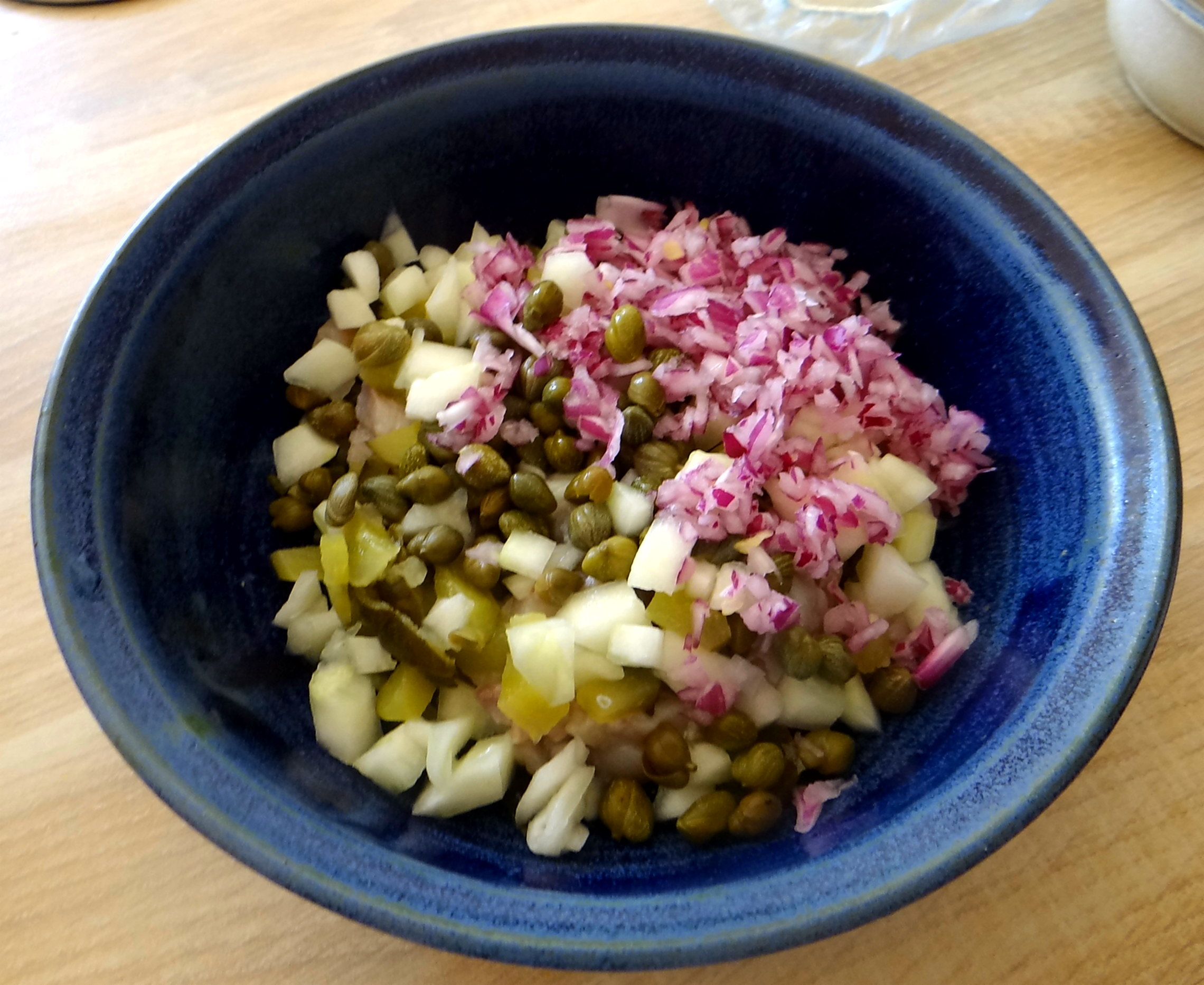 Matjes Tatar,Rote Beete Salat,Pellkartoffeln,Apfelkompott (11)