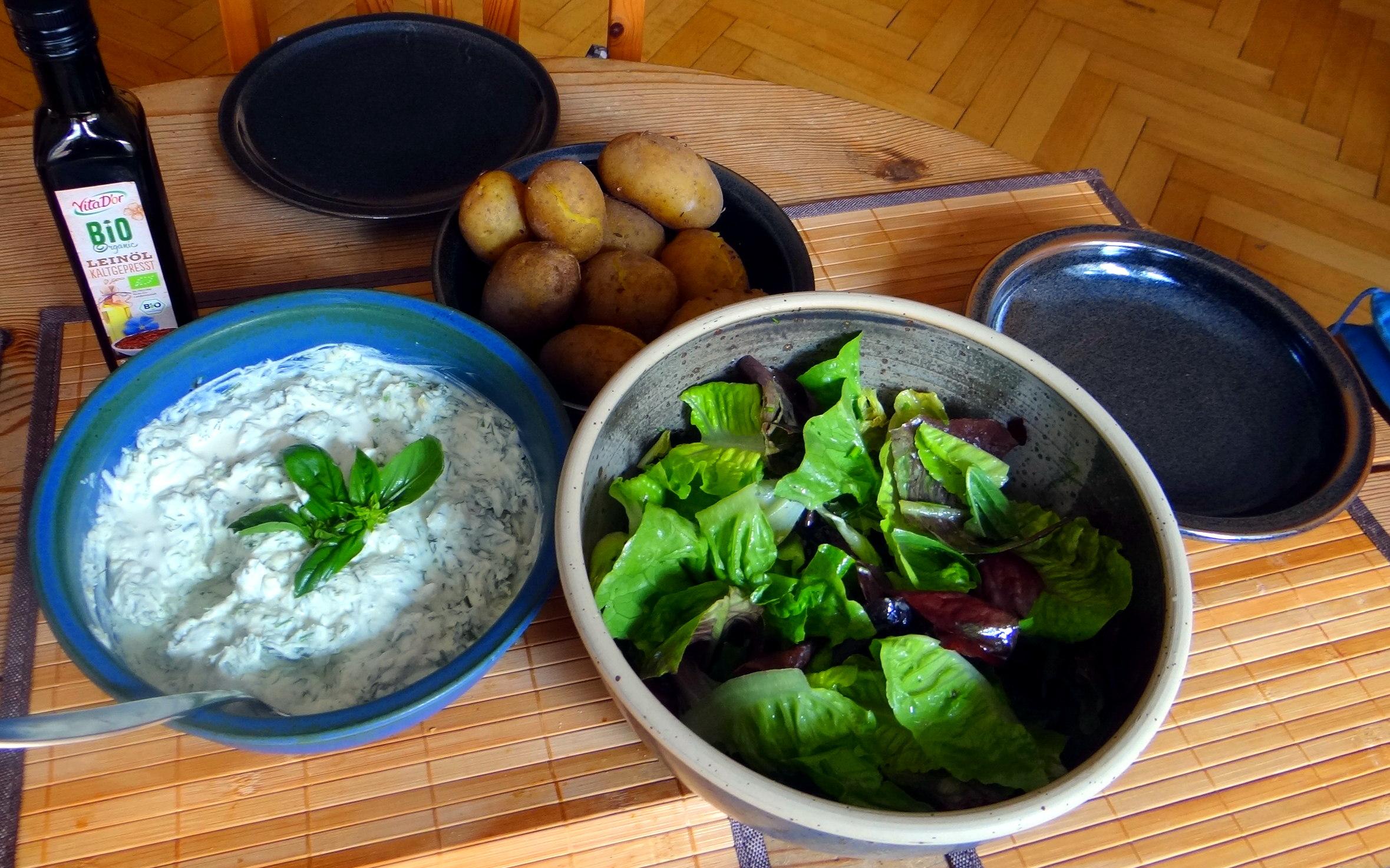 Quark,Kartoffeln,Salat (12)